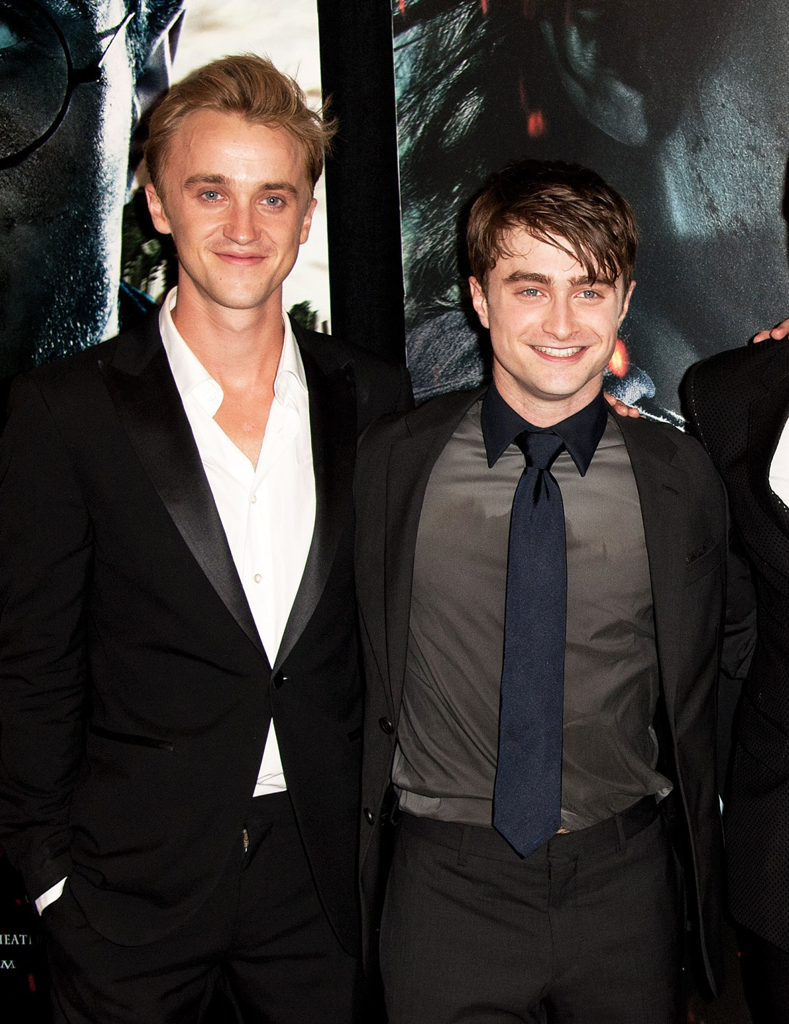 "Tom Felton, Daniel Radcliffe Want to Work Together Again Post-Harry Potter - Tom Felton, and Daniel Radcliffe attend the premiere of ""Harry Potter and the Deathly Hallows: Part 2"" at Avery Fisher Hall, Lincoln Center on July 11, 2011 in New York City."
