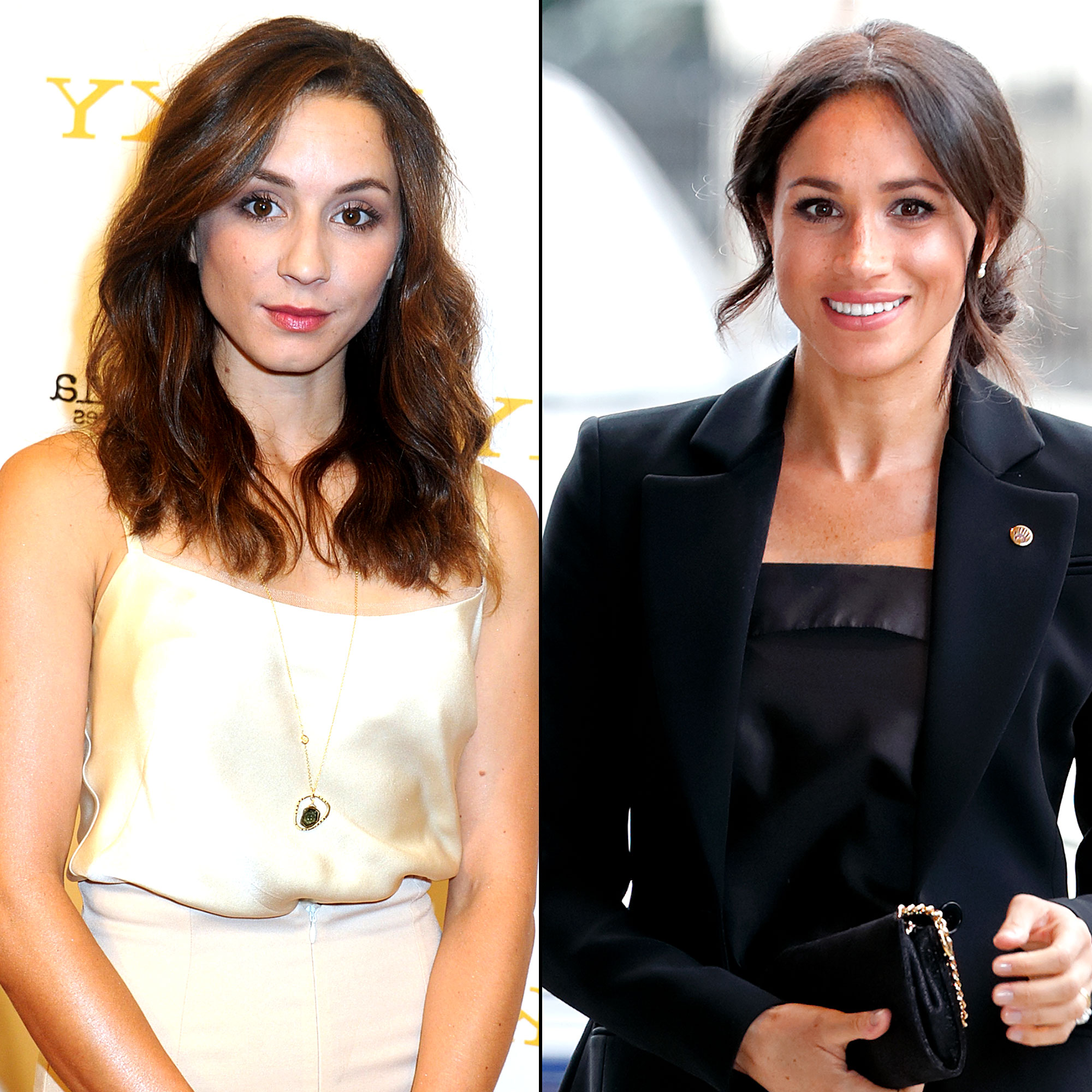 Troian Bellisario Reveals Why She Didn't Send Meghan Markle a Baby Shower Gift - Troian Bellisario and Meghan Markle.