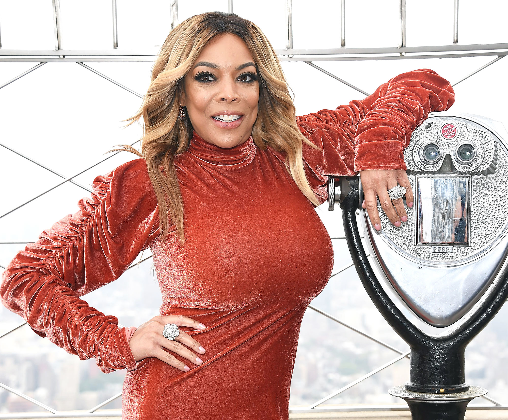 Image result for images of Wendy Williams with wedding ring