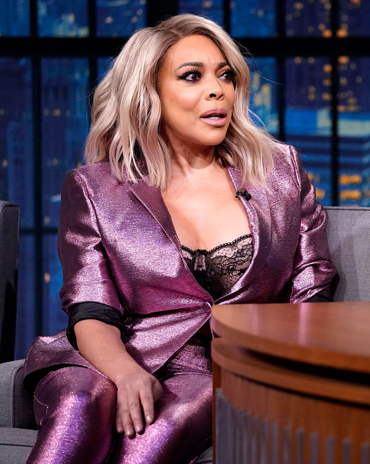 Wendy William's Sobriety Is a 'Work in Progress' - Wendy Williams during an interview on 'Late Night With Seth Meyers' on October 30, 2018.