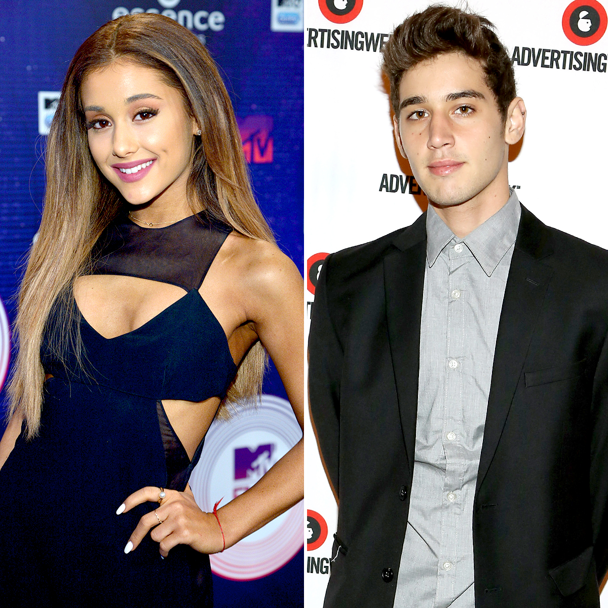 "ariana-grande-jai-brooks - The YouTube star made his crush on the ""7 Rings"" songstress known when he made a video explaining why she should date him in 2012. They started talking over Twitter and eventually met in person that December ."