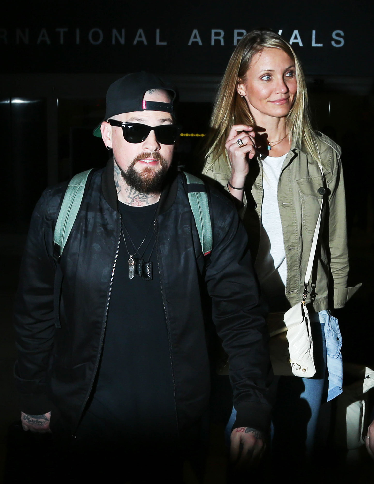 A Timeline of Cameron Diaz and Benji Madden's Private Relationship - Benji and Diaz tied the knot at the Annie star's home in Beverly Hills in early January 2015. Celebrity guests included Benji's twin, the Great News actress, Gwyneth Paltrow , Samantha Ronson and Robin Antin .