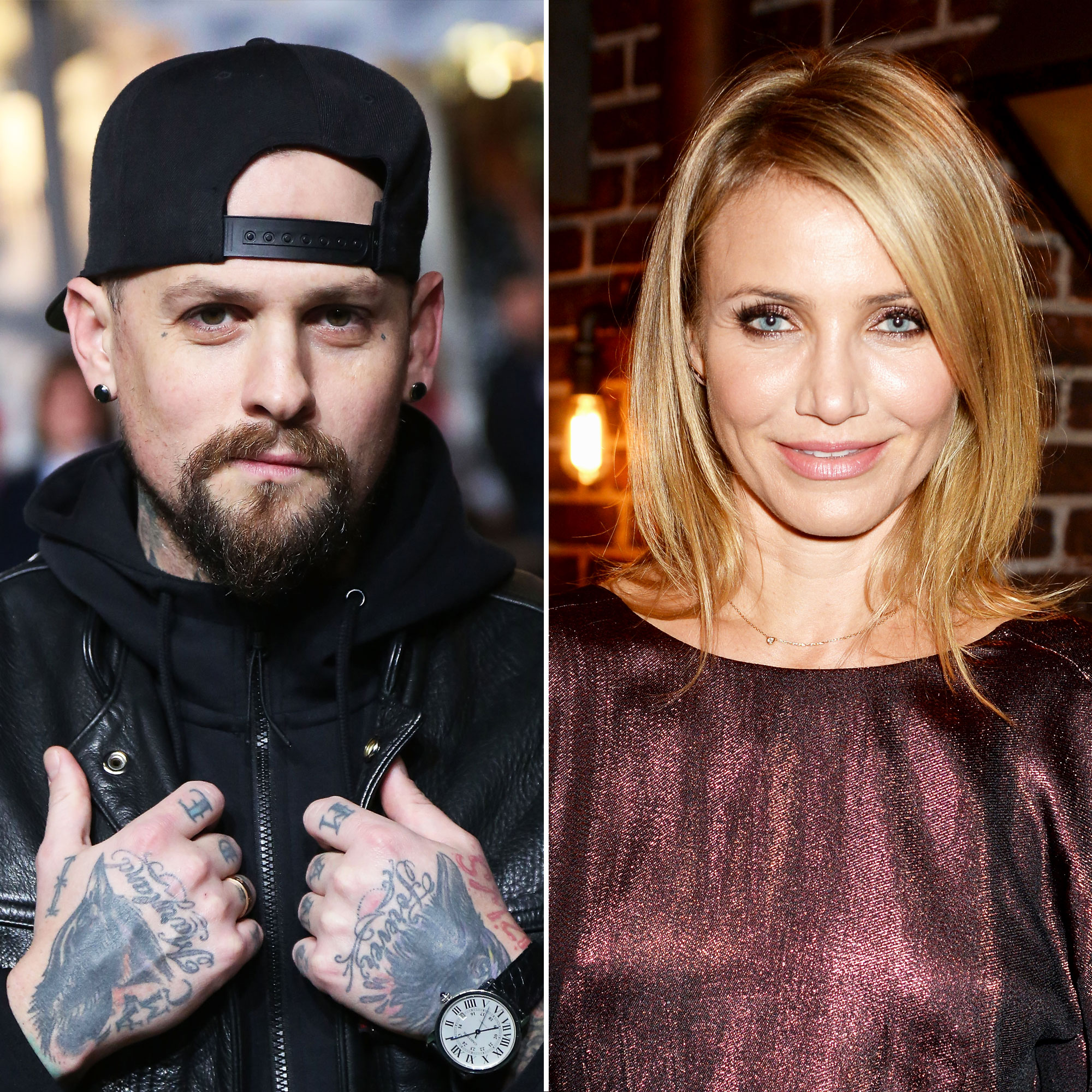 """A Timeline of Cameron Diaz and Benji Madden's Private Relationship - A month after the news of his romance with Diaz broke, the Good Charlotte member told Australian radio station Nova FM that he and his twin brother, Joel Madden , are """" lucky guys """" to be in committed relationships. (Joel has been married to Richie since December 2010.)"""