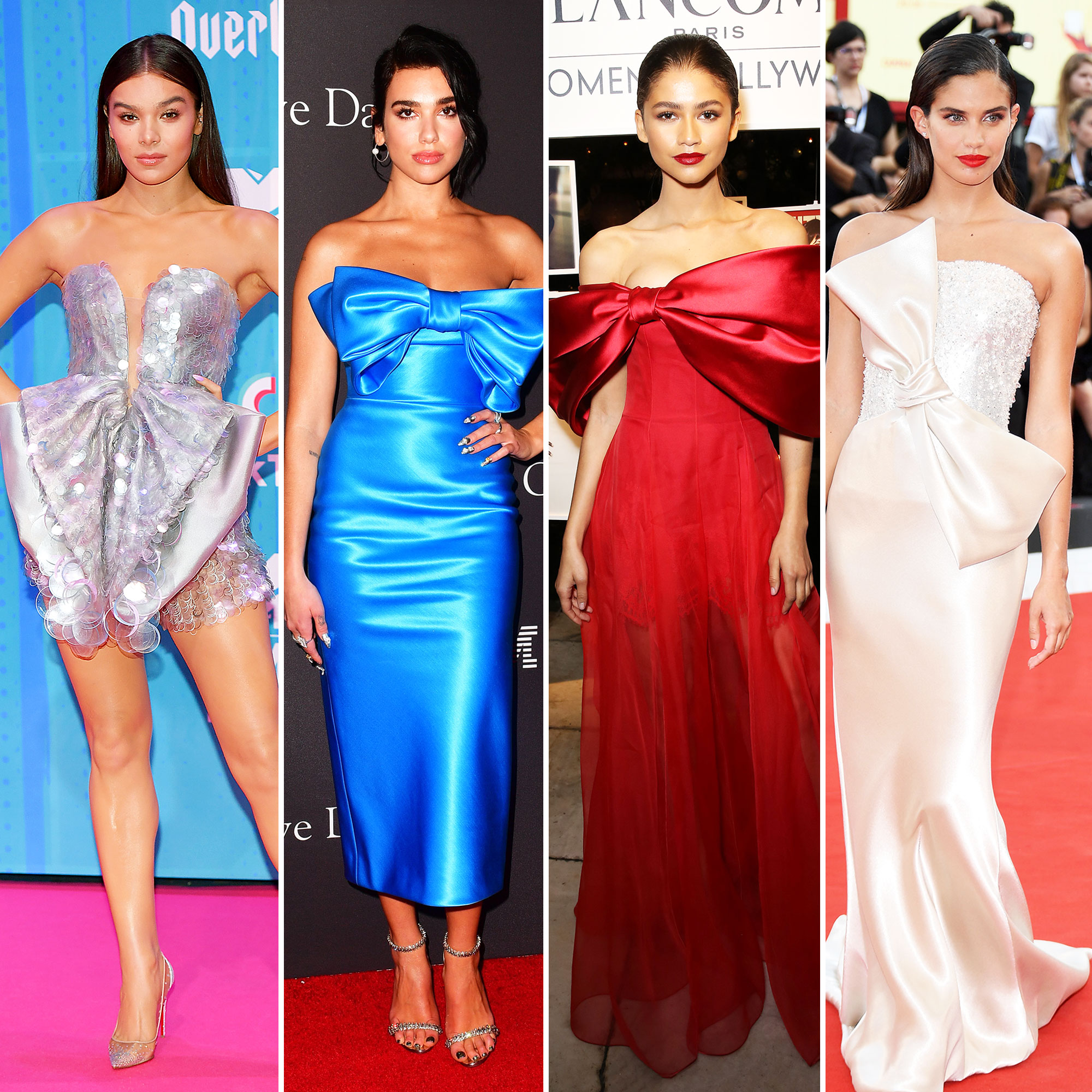 Hailee Steinfeld, Dua Lipa, Zendaya, and Sara Sampaio Bows red carpet gallery for Stylish - Hailee Steinfeld, Dua Lipa, Zendaya, and Sara Sampaio