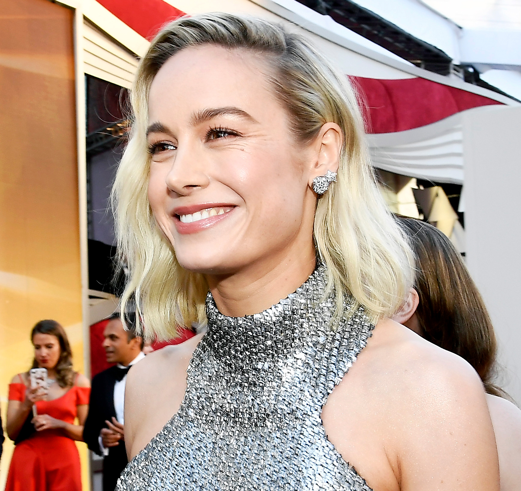 brie-larson-oscars-lipstick - Brie Larson attends the 91st Annual Academy Awards at Hollywood and Highland on February 24, 2019 in Hollywood, California.