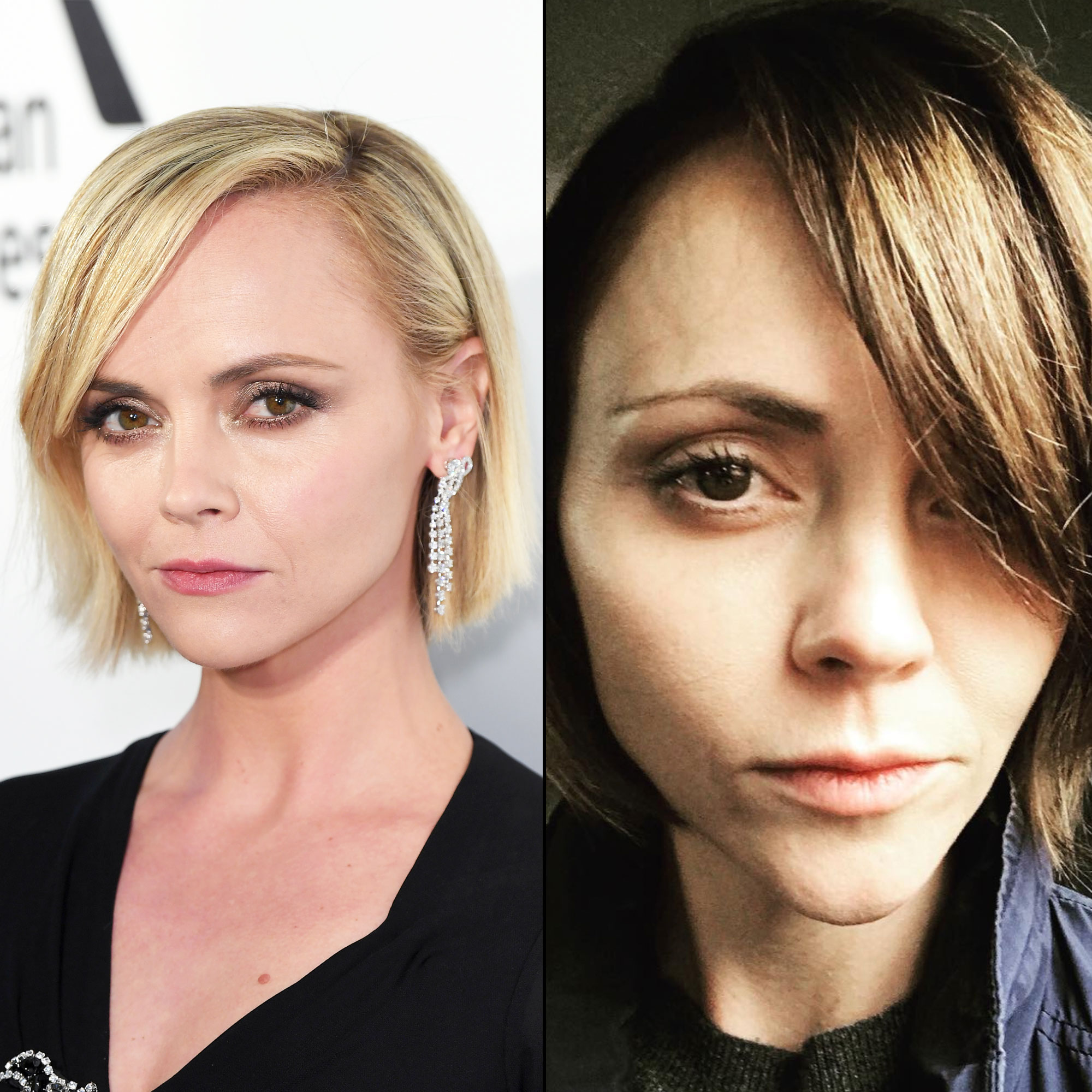 """Christina Ricci's Dark 'Do Joins the Year's Best Hair Changes - Spring may be just around the corner, but the actress and her colorist Tracey Cunningham decided to darken things up on Wednesday, March 6. """"Back in Brown 🖤🖤🖤 thank you genius @traceycunningham1,"""" she captioned an Instagram selfie showing off her new 'do."""