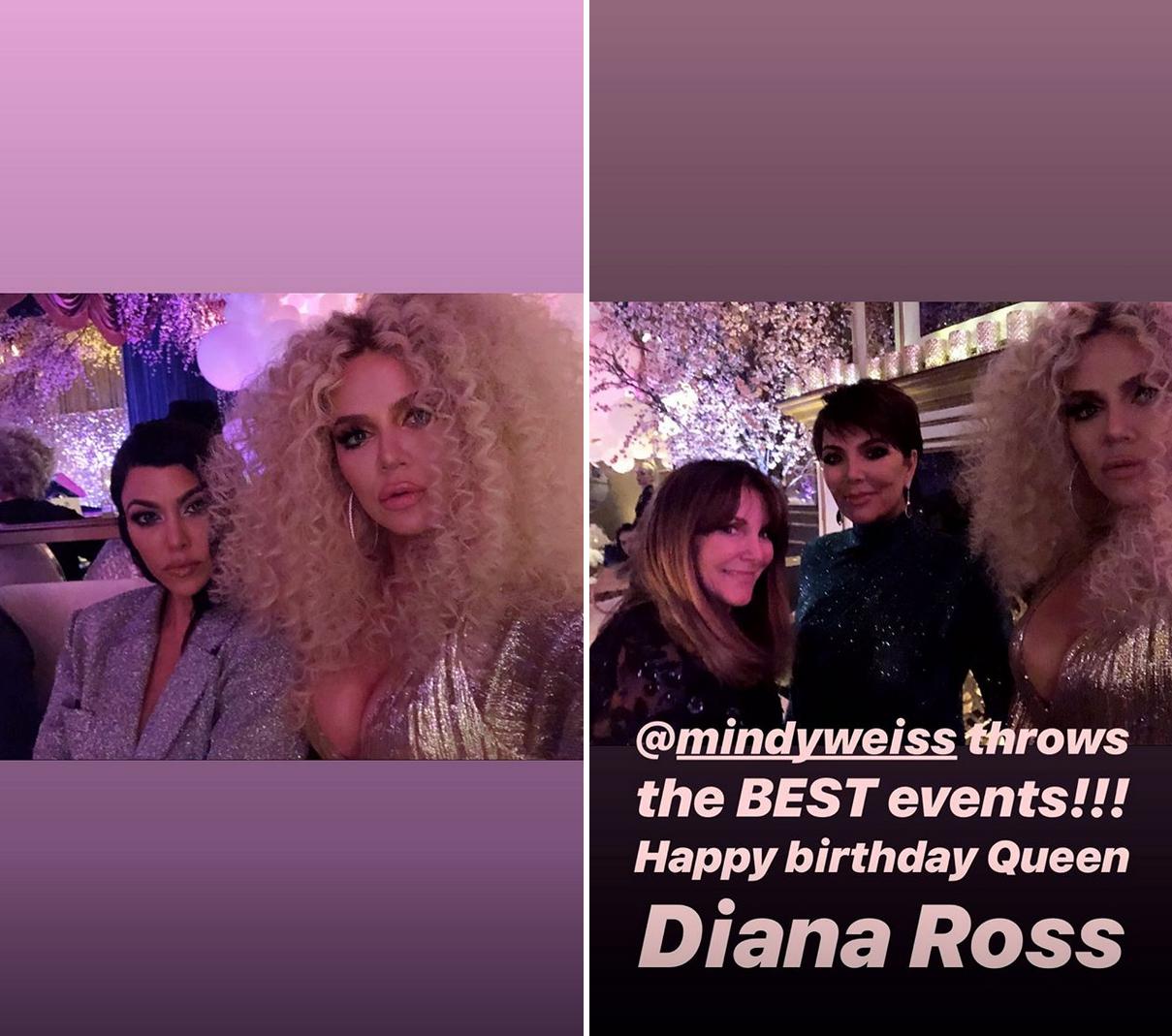 diana-ross-birthday-kardashians - Celebrity party planner Mindy Weiss organized the star-studded party.