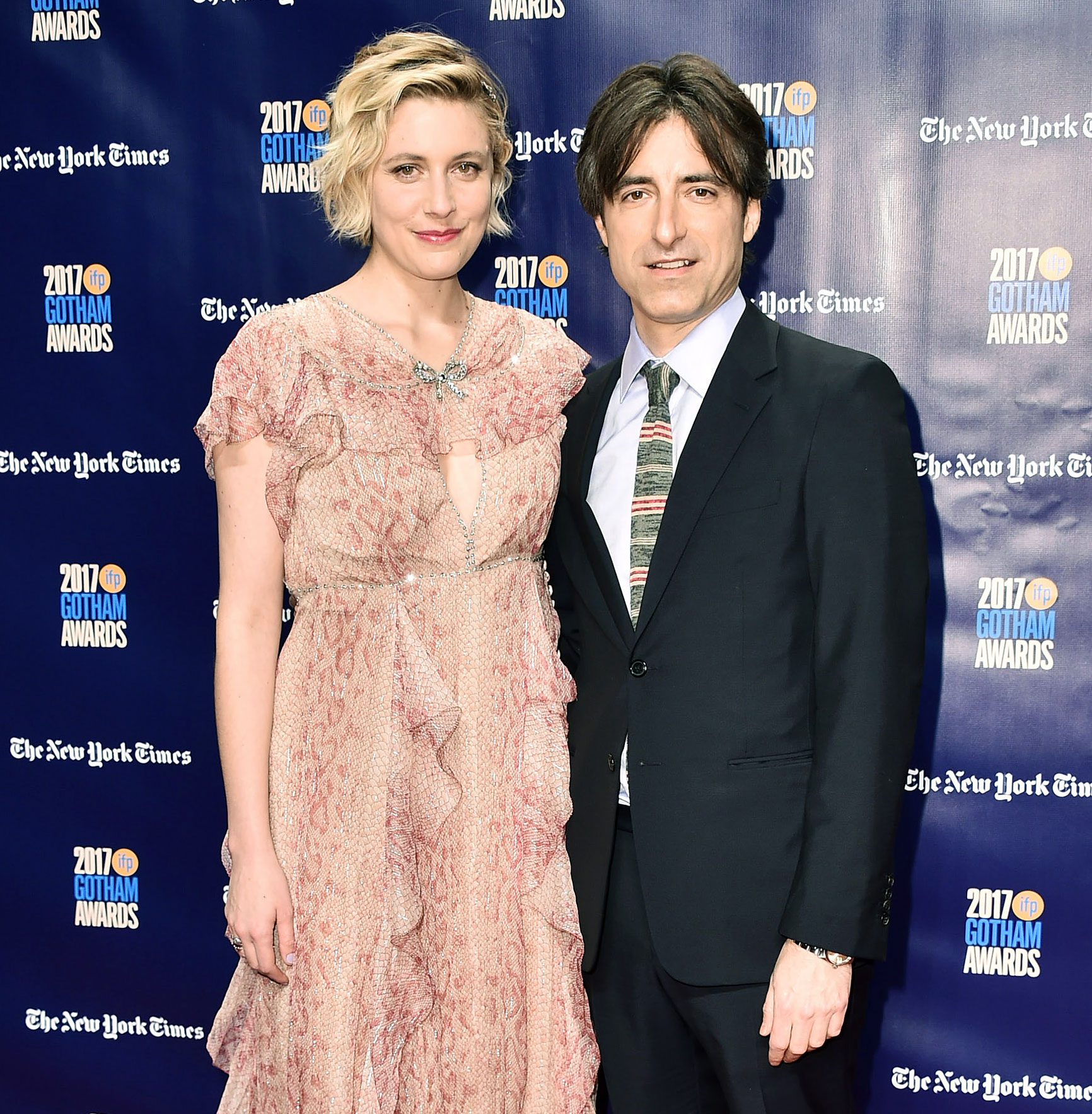 Greta Gerwig Noah Baumbach Welcome First Child - Us Weekly confirmed in March that Greta Gerwig and her longtime love, Noah Baumbach, welcomed their first child together, a baby boy. The Lady Bird writer/director and the While We're Young writer fueled speculation that they secretly started a family after they were spotted walking with a baby stroller in New York City.