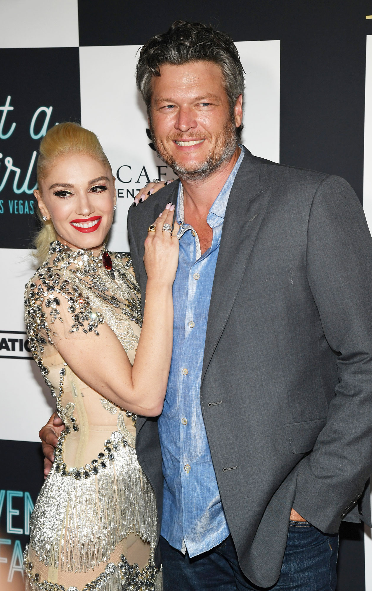 "Gwen-Stefani-blake-shelton-sweetest - Shelton was his significant other's number one fan at the debut of her Just a Girl residency in Las Vegas on June 27, holding her youngest son, Apollo, on his lap. ""It was the sweetest thing ever,"" an onlooker told Us."