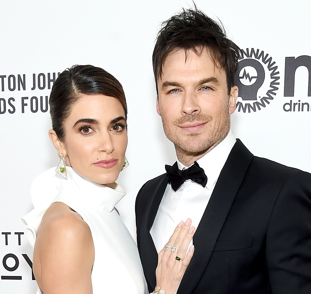 ian-somerhalder-post-haircut-nikki-reed - Nikki Reed and Ian Somerhalder attend the 27th annual Elton John AIDS Foundation Academy Awards Viewing Party sponsored by IMDb and Neuro Drinks celebrating EJAF and the 91st Academy Awards on February 24, 2019 in West Hollywood, California.