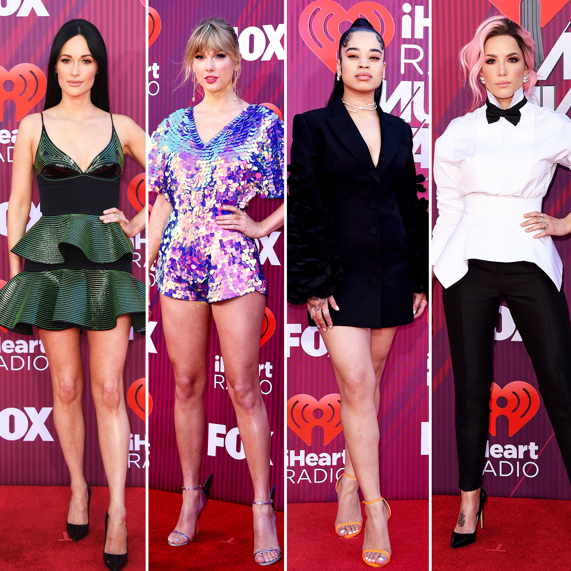 Kacey Musgraves Taylor Swift Ella Mai Halsey See What the Stars Wore to the iHeart Radio Music Awards 2019 - Kacey Musgraves, Taylor Swift, Ella Mai and Halsey