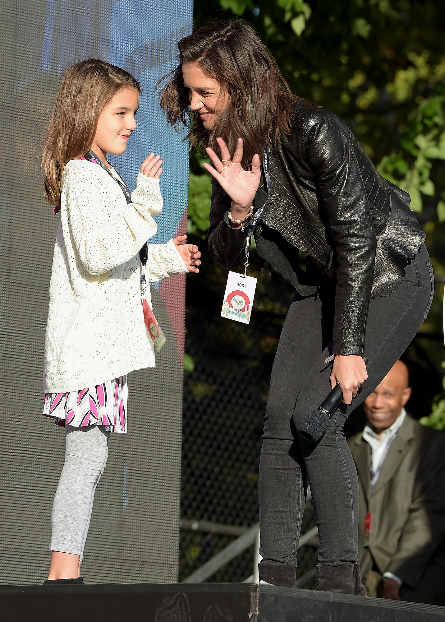 katie-holmes-suri-cruise-Fan-Favorite - Suri tagged along to the Global Citizen Festival in NYC's Central Park back in September 2015, even joining the Miss Meadows actress on stage and waving to the crowd!