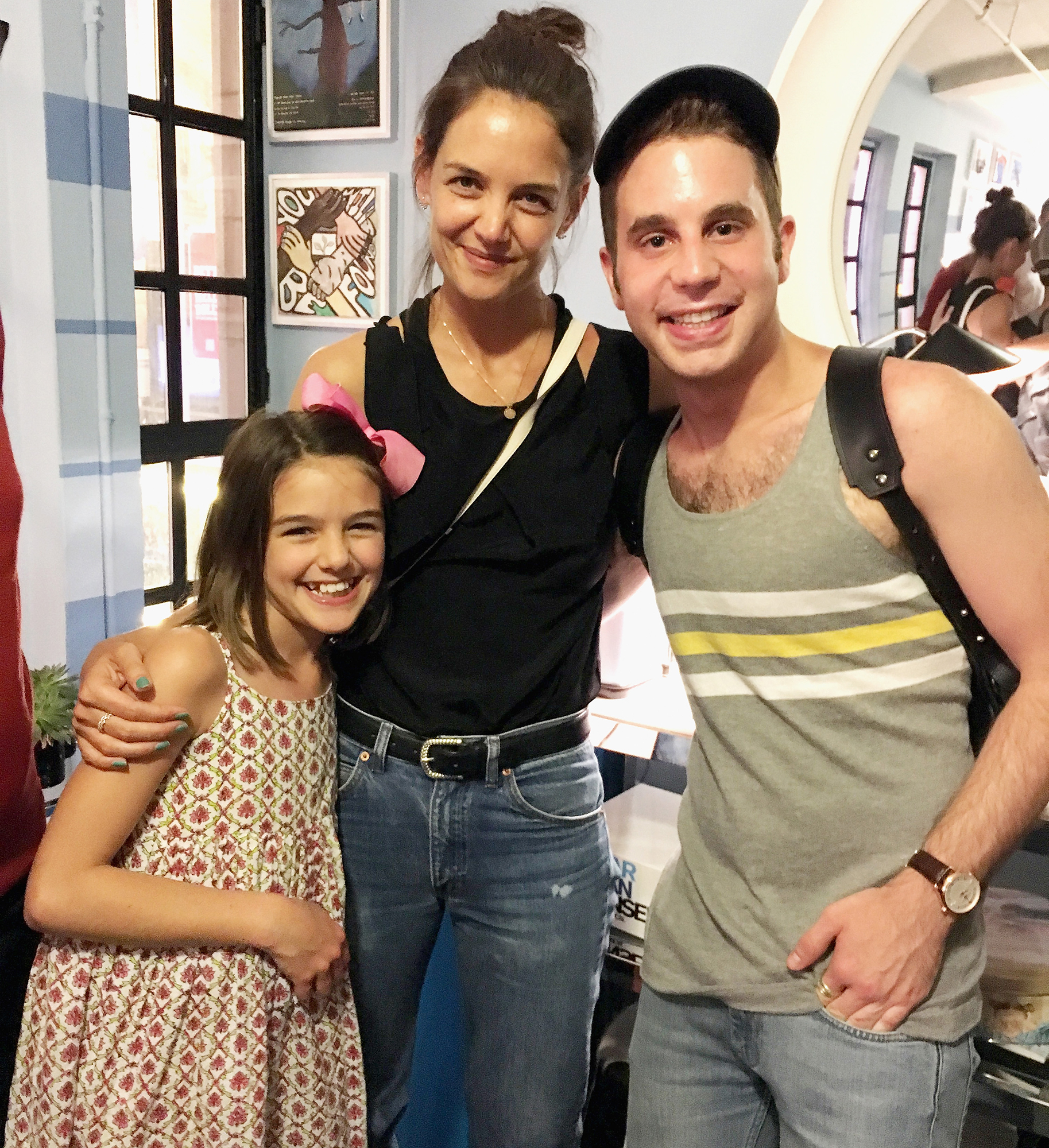 katie-holmes-suri-cruise-ben-platt-Broadway-Babes - In July 2017, Suri and her mom posed for a pic with Ben Platt backstage at the Broadway show Dear Evan Hansen .