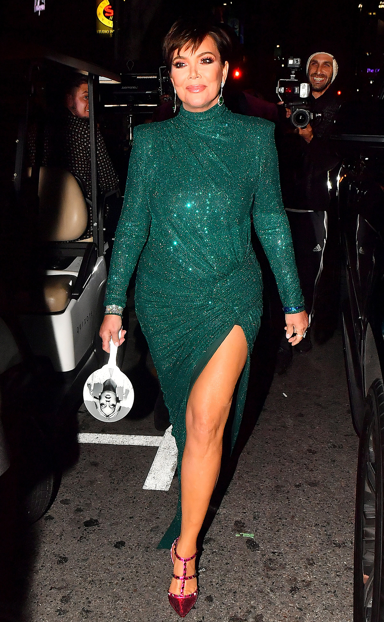 kris-jenner-diana-ross-birthday - Khloé and Kourtney, both decked out in sparkles, attended the get-together with their mother, Kris Jenner.
