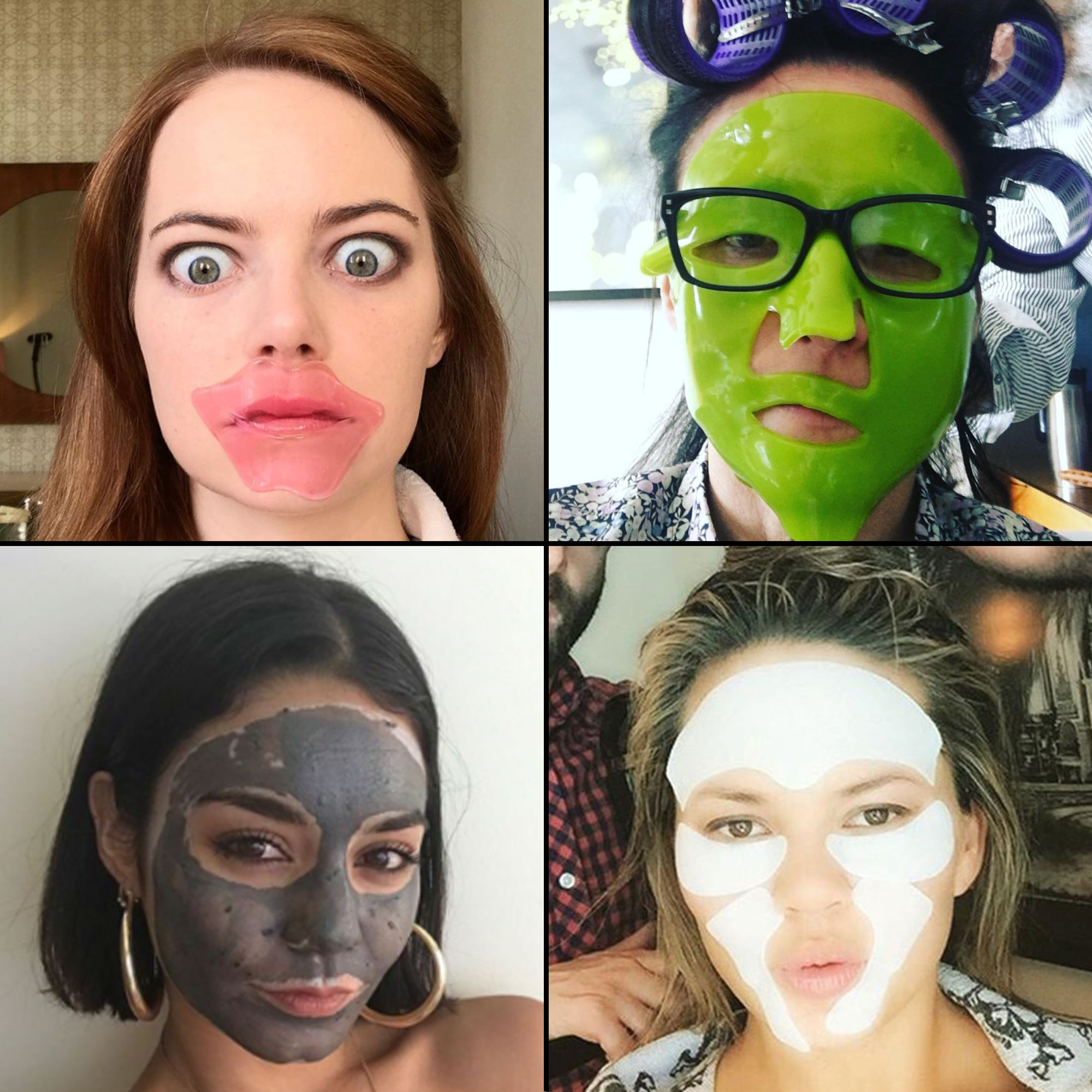 Emma Stone, Julia Louis-Dreyfus, Vanessa Hudgens and Chrissy Teigen Celeb Face Mask Selfies: From Sheet Masks to Eye Patches and More - When it comes to skincare, most products take weeks (or even months!) to start revealing results, but there is one category that offers instant gratification: the face mask. From clays and muds to sheets and patches, five to 30 minutes is usually all you'll need to start seeing the brightening, toning and calming effects.