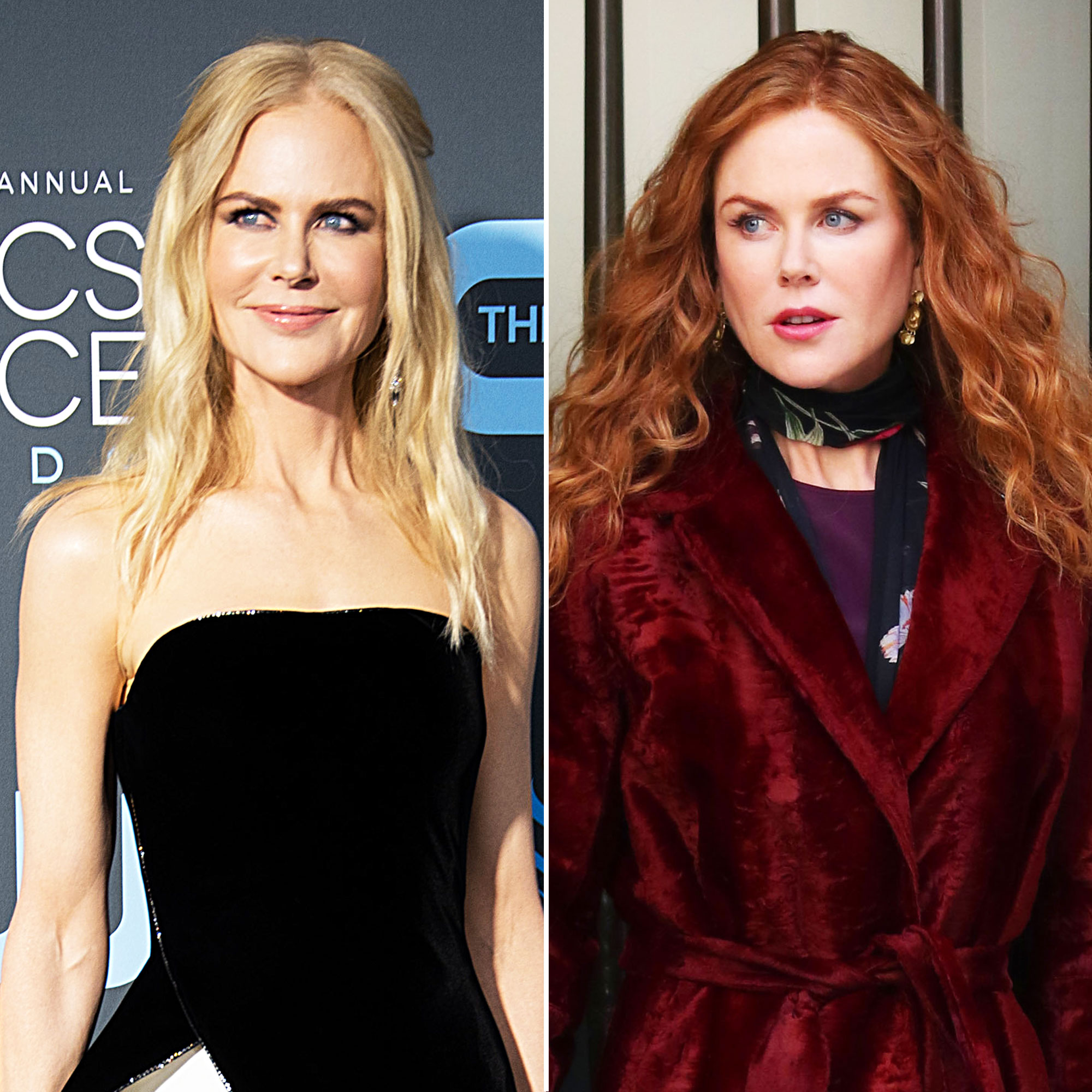 Nicole Kidman Goes Fire Engine Red, Plus Other Major Celeb Hair Changes - Returning to her darker roots, the Big Little Lies star was spotted filming The Undoing in New York City on March 14 with a fresh shade of red worn in long wavy locks.