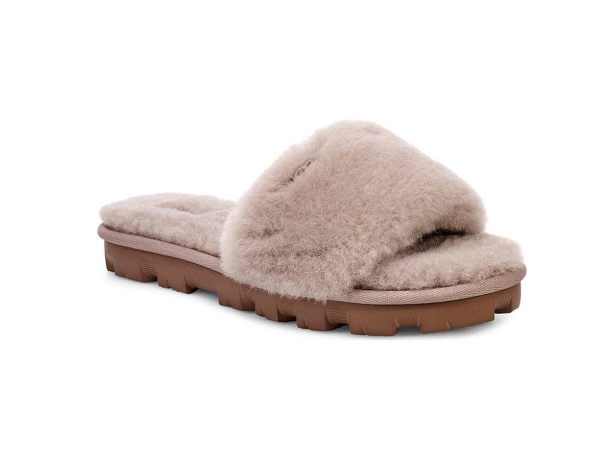 d88d1b36c These Super Fluffy Sandals Are Uggs But With Shearling for Spring