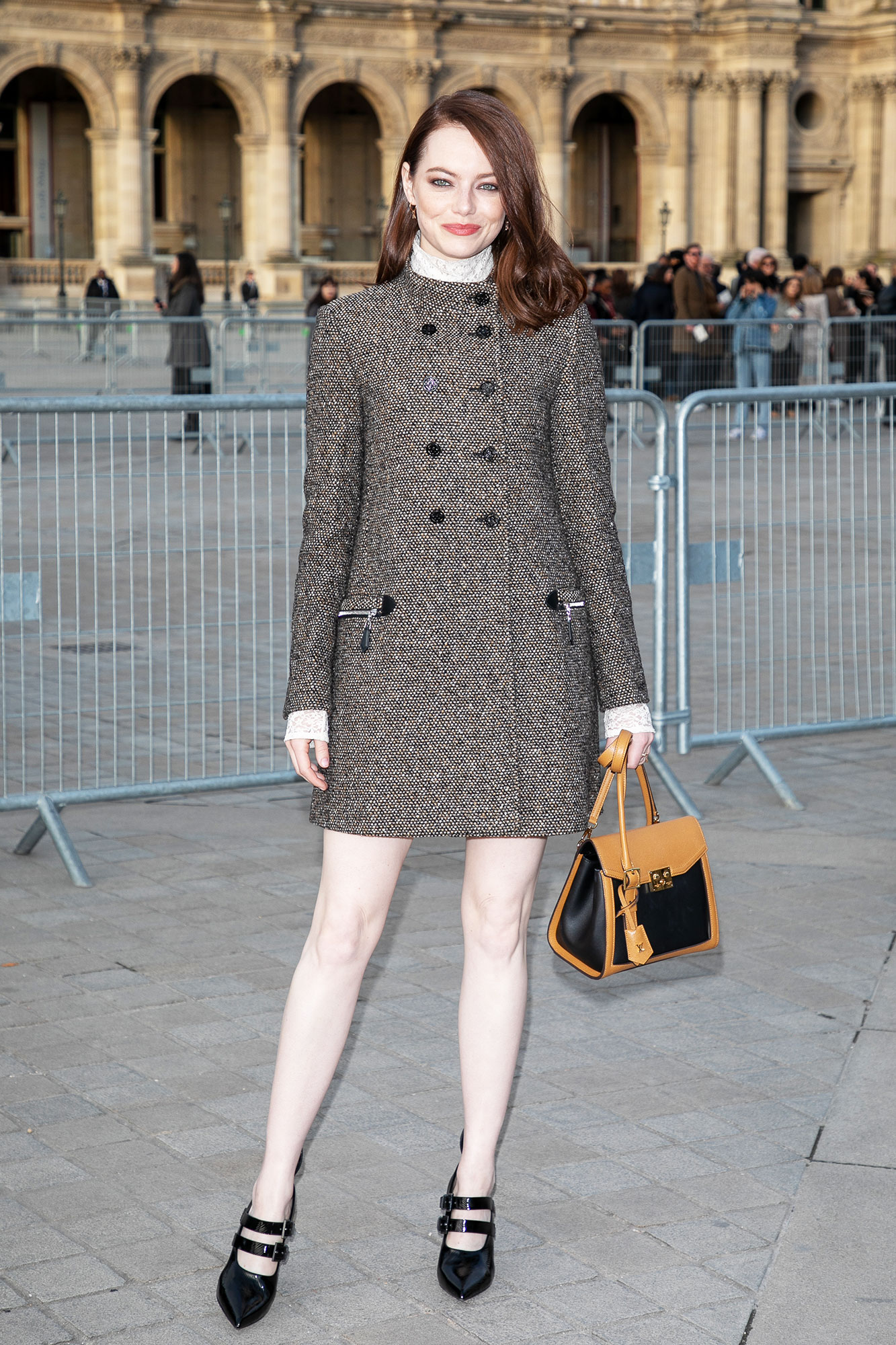 Emma Stone Stars Closed Out Paris Fashion Week on a Sartorial High Note - Emma Stone attends the Louis Vuitton show as part of the Paris Fashion Week Womenswear Fall/Winter 2019/2020 on March 05, 2019 in Paris, France.
