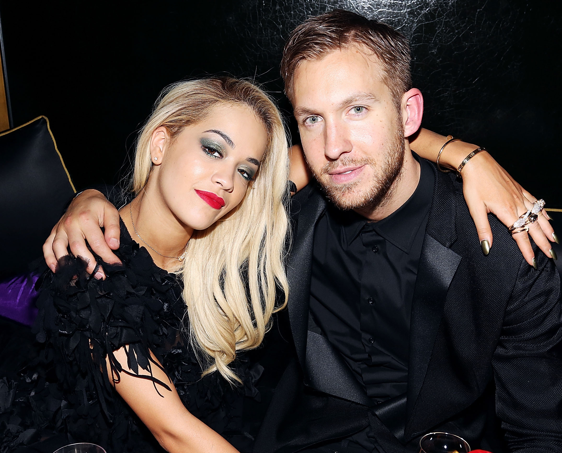 rita-ora-calvin-harris - The beginning and end of Harris and Ora's relationship played out on Twitter. The duo started dating in May 2013 after they connected on the social media website and announced their split on the same site in early 2014.