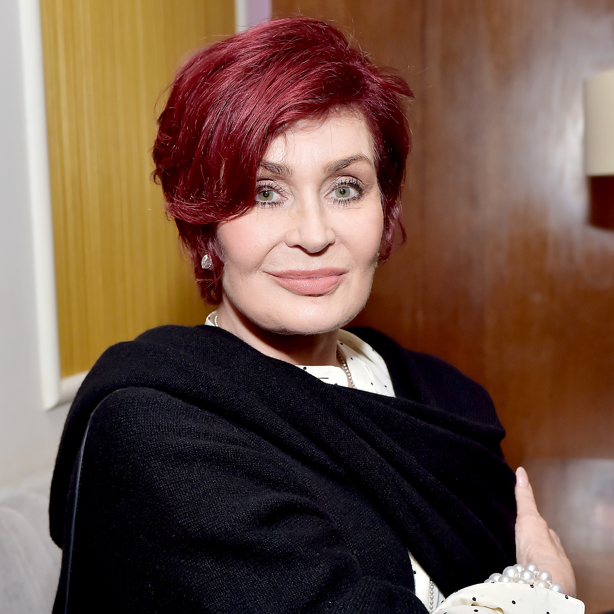 """sharon-osbourne - The reality star suffered abuse at the hands of her now-estranged music mogul father. """"He would whack me and he used to yank my hair,"""" she said on a U.K. talk show in 2007."""
