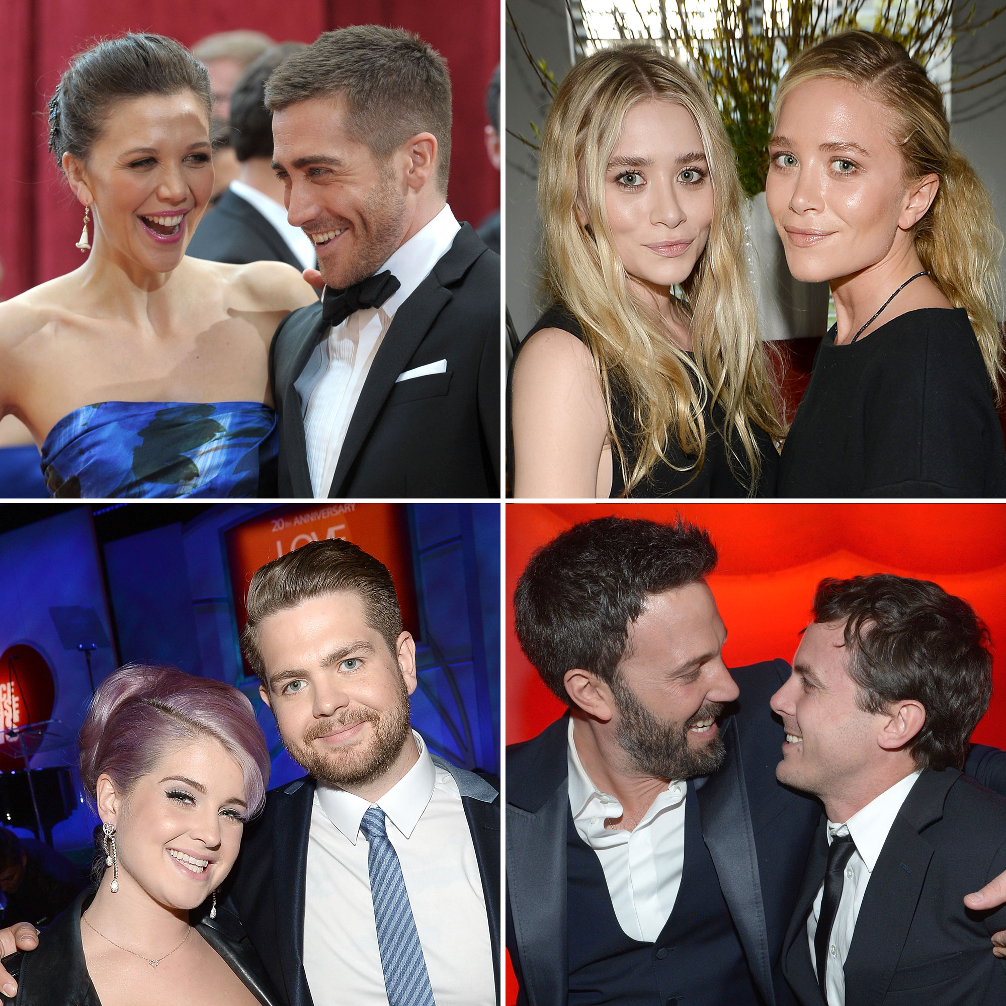 Celebrity Siblings Gallery - From Maggie and Jake Gyllenhaal to the Olsen twins, take a closer look at some of Us Weekly's favorite star siblings! Related: Celebriteens -- Do They Look More Like Mom or Dad?