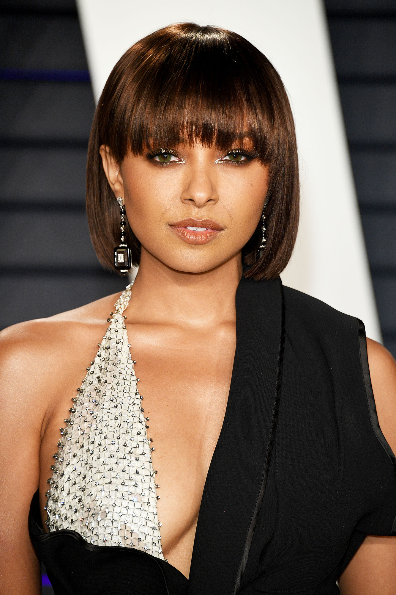 """5 Spring Beauty Tips From Beyonce¹s Makeup Artist Sir John - Gone are the days of rules like """"you can't rock a bold lip and eye at the same time,"""" but Sir John believes it is important to consider the the entirety of a look (think: hair, clothing, accessories, etc.) when choosing makeup. Take, for instance, Kat Graham's 2019 Vanity Fair Oscar Party glam."""
