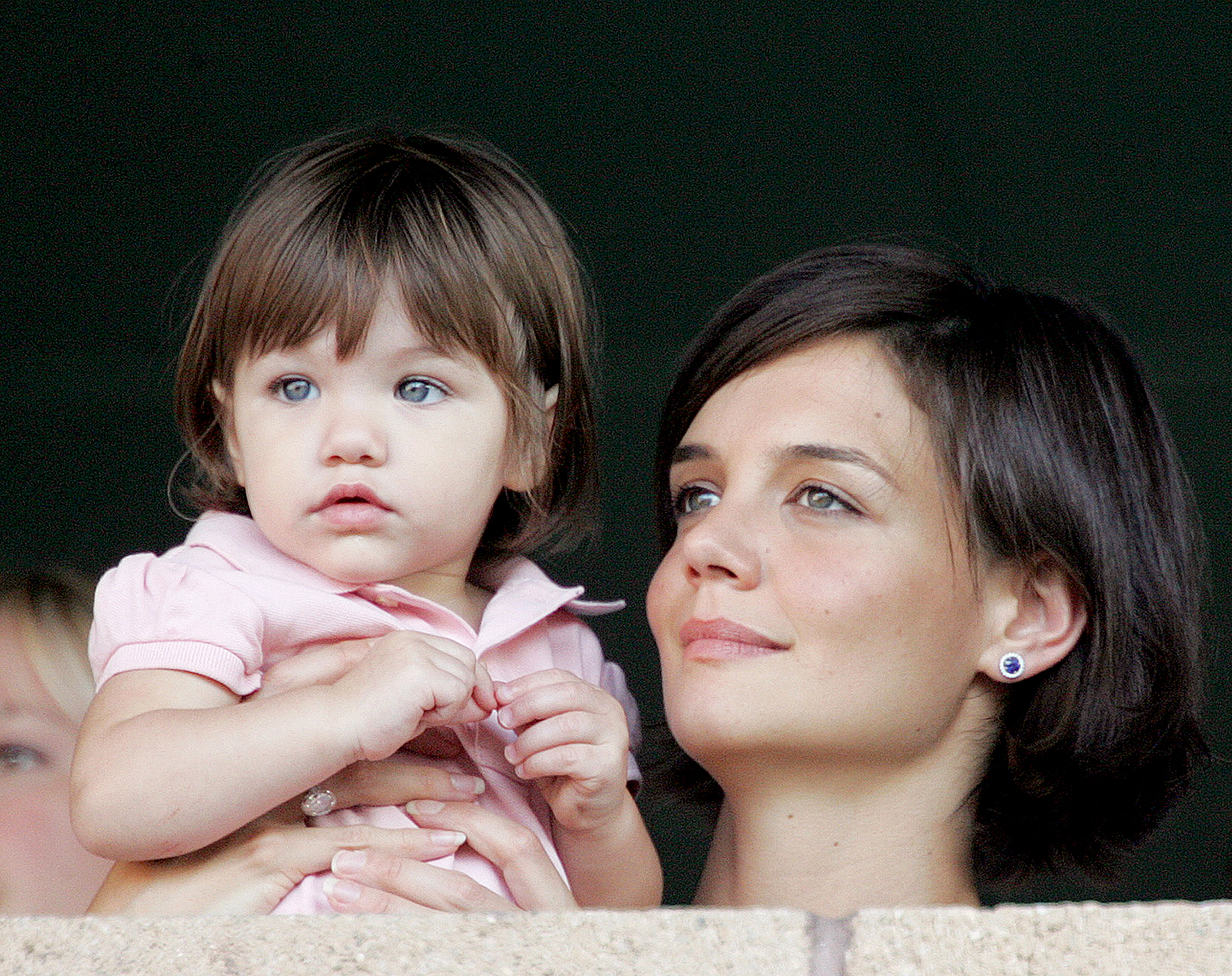 suri-cruise-katie-holmes - Holmes and Suri watched the LA Galaxy vs Chelsea FC soccer game in July 2007.