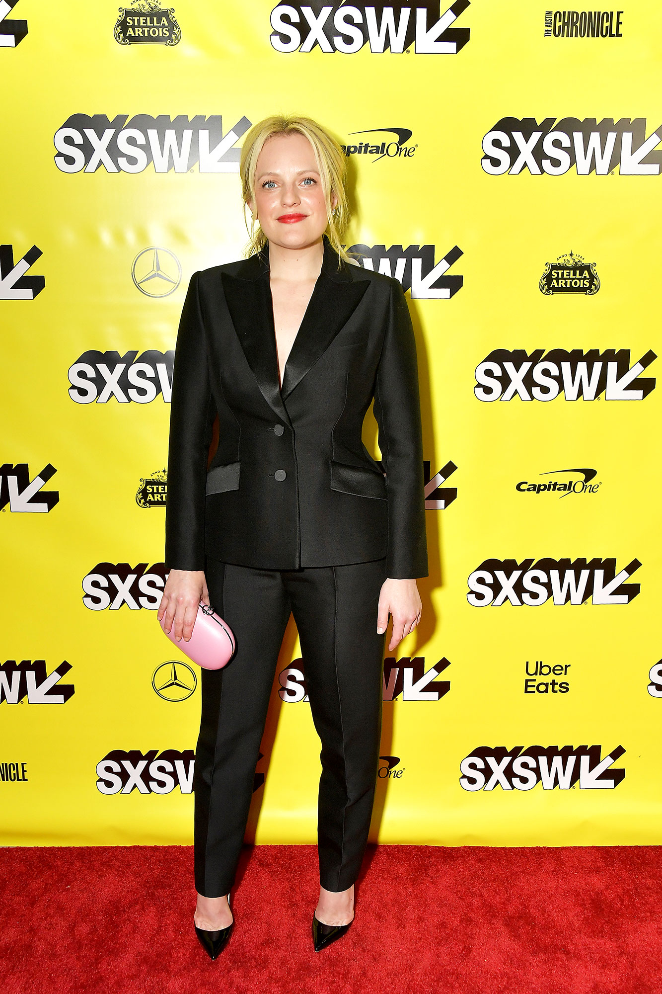 The Stars Bring Their Beauty and Style A-Game to SXSW - The blonde beauty looked every bit the HBIC in her shirtless Dior tux at the Her Smell premiere on Saturday, March 9.