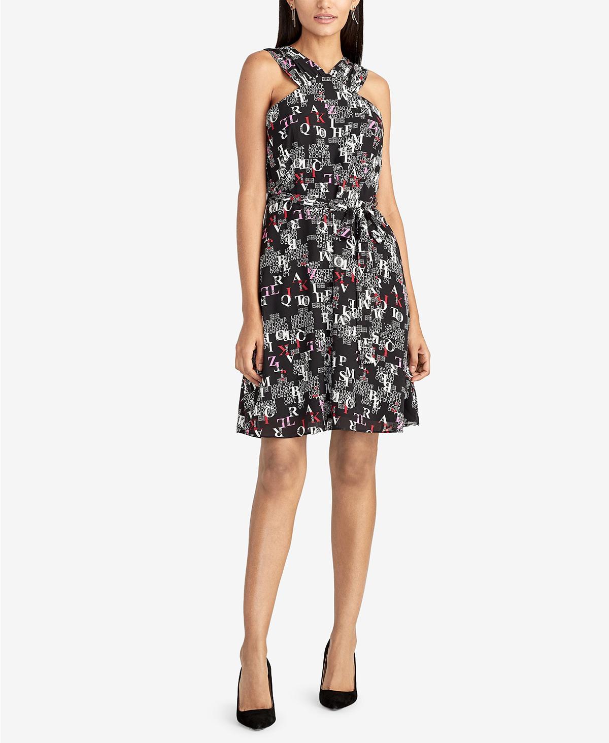 text-print-dress