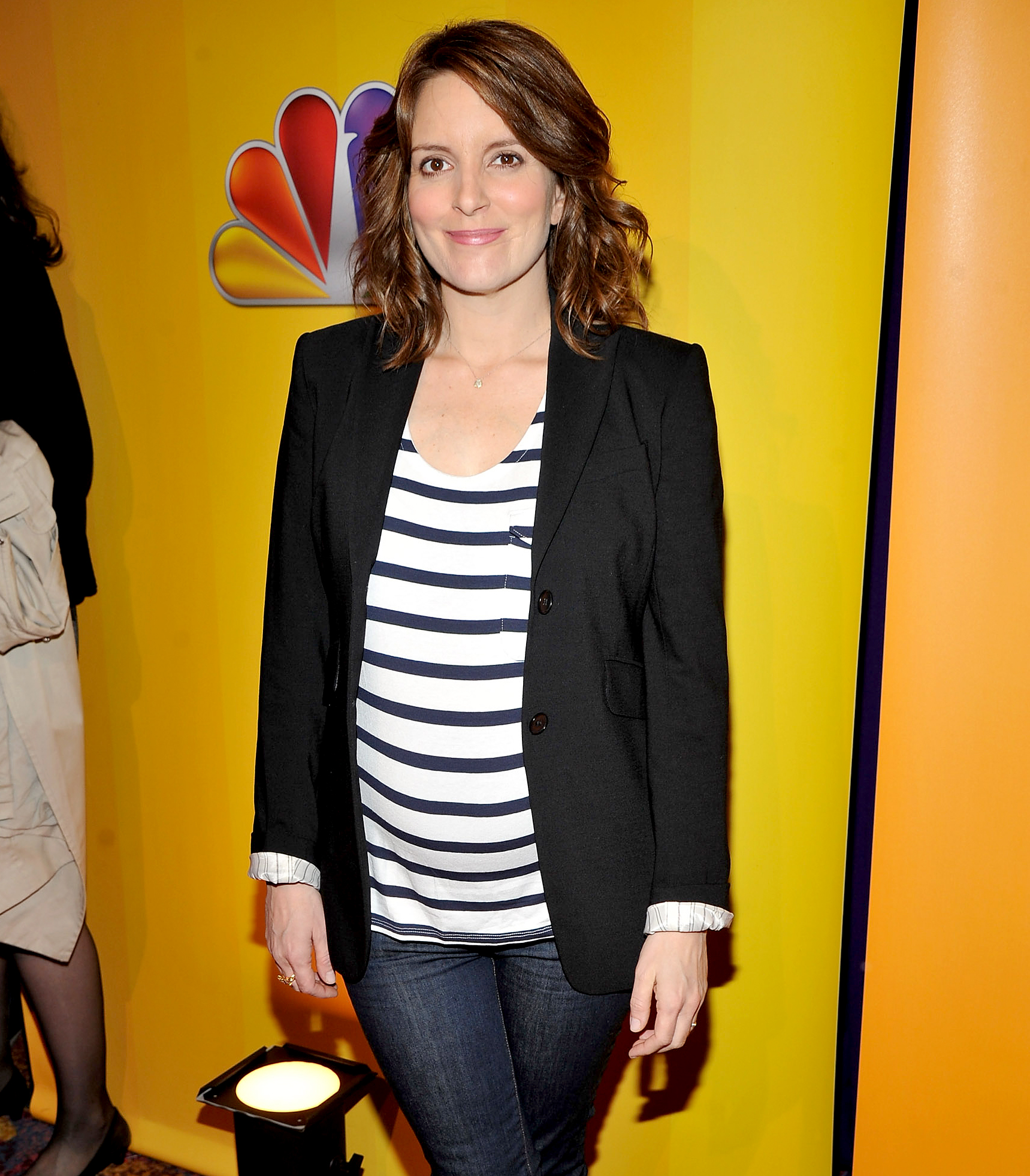 "tina-fey-pregnant - ""It's funny because I'm oldie, olderson,"" the comedian told Ellen DeGeneres of her pregnancy in 2011. ""I have what they call advanced maternal age. [Doctors] look at me like I'm just going to explode. They treat me very gingerly."""