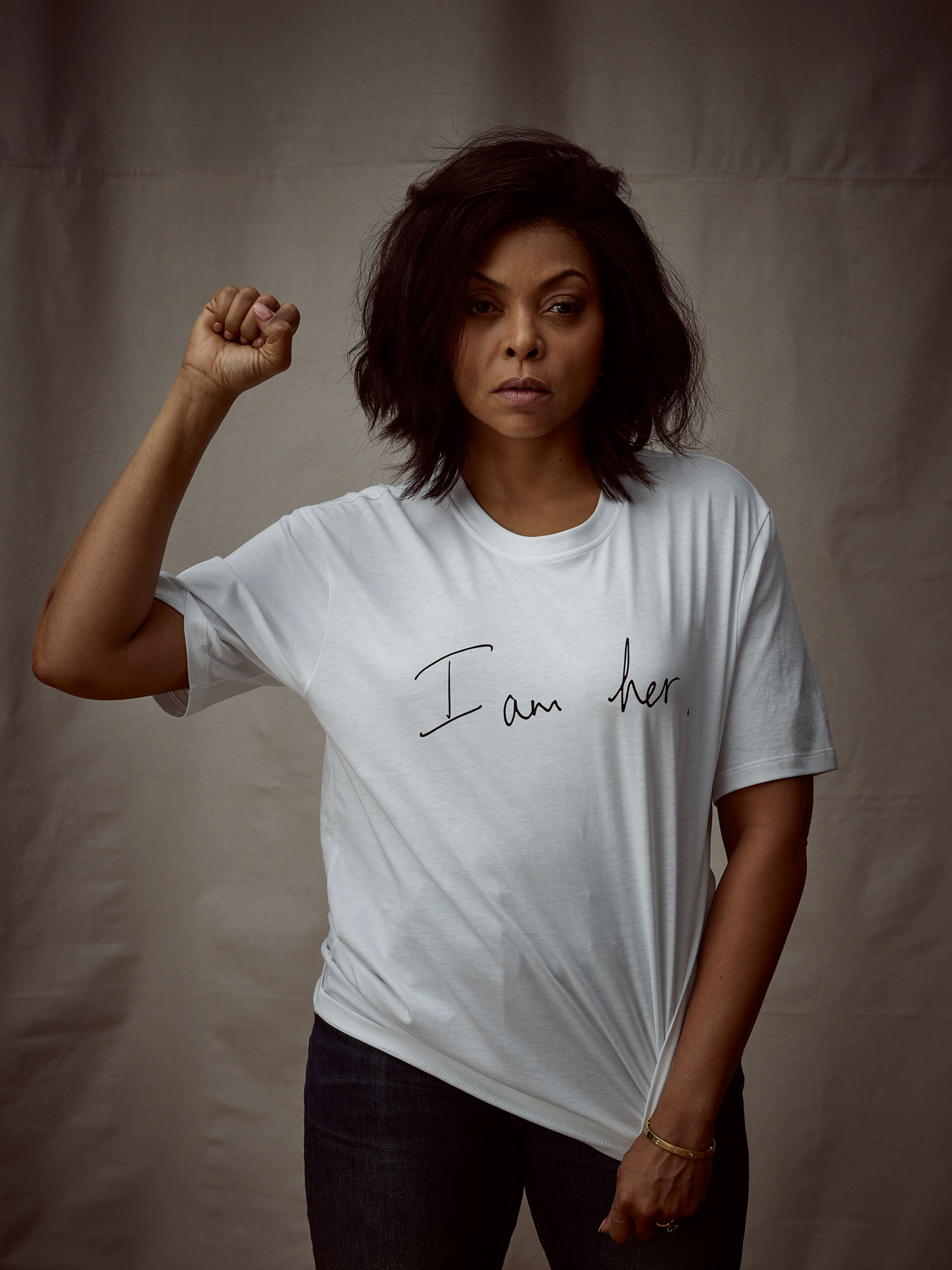 Taraji P Henson Net-a-Porter Is Here With a Star-Studded T-Shirt Collection for International Women's Day - The Empire actress made a statement in her Victoria Beckham tee. $220, net-a-porter.com
