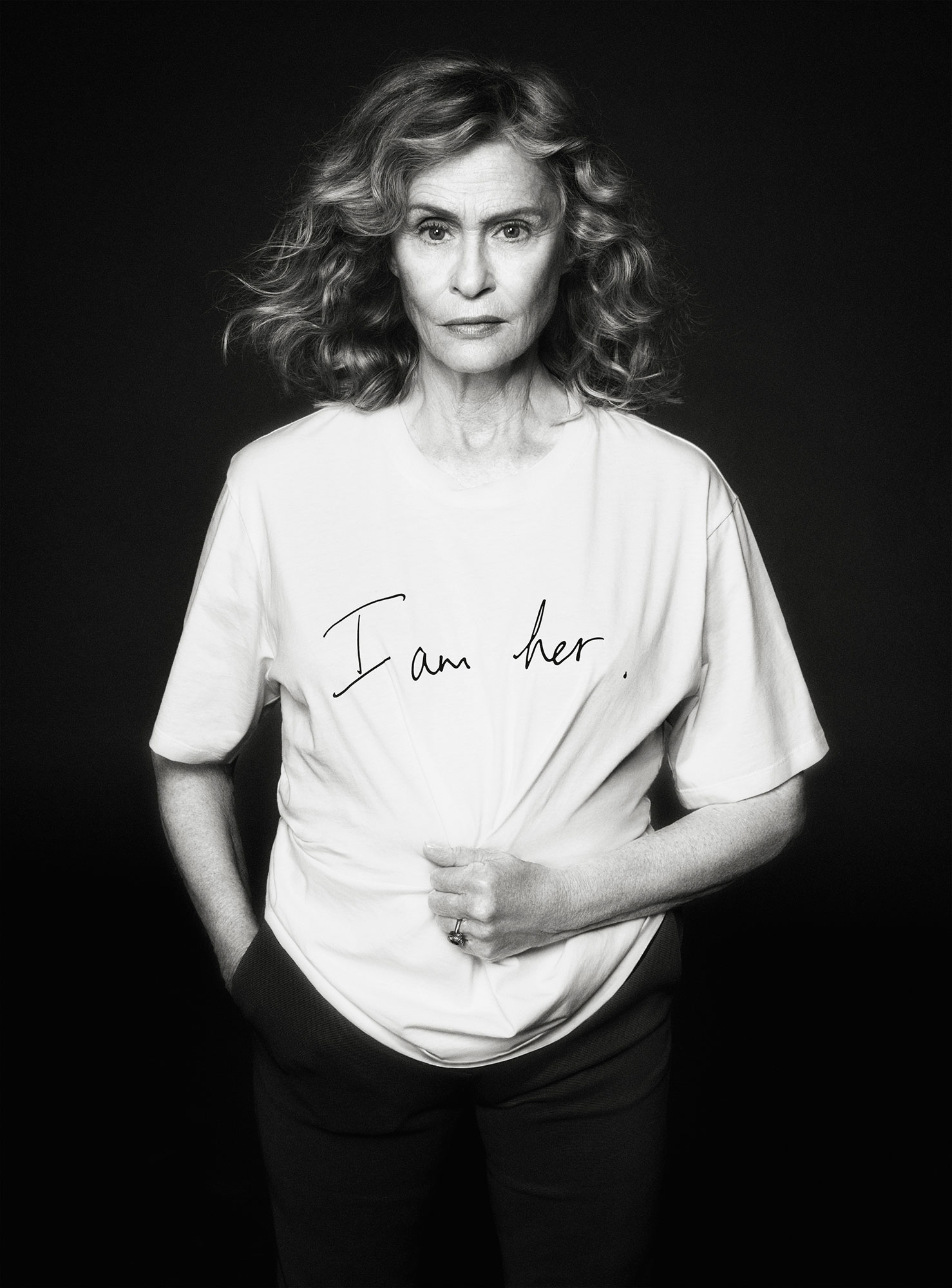 Lauren Hutton Net-a-Porter Is Here With a Star-Studded T-Shirt Collection for International Women's Day - All hail! The iconic model and actress lent her face to the campaign wearing Victoria Beckham's design.