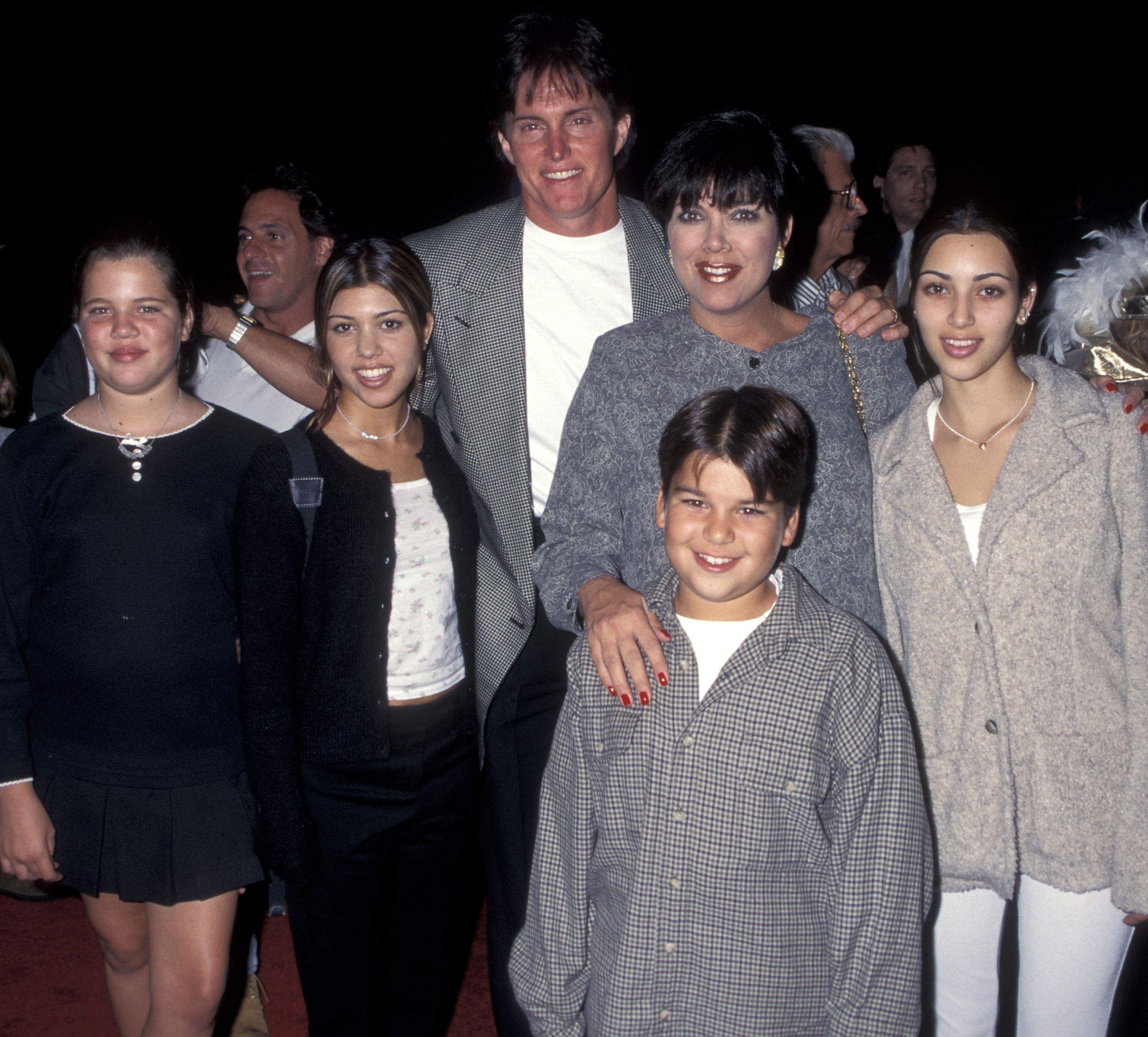 Kourtney Kardashian Through the Years - Years before red carpets would become a weekly occurrence, Kourtney attended a Cinderella release party with her family in 1995.