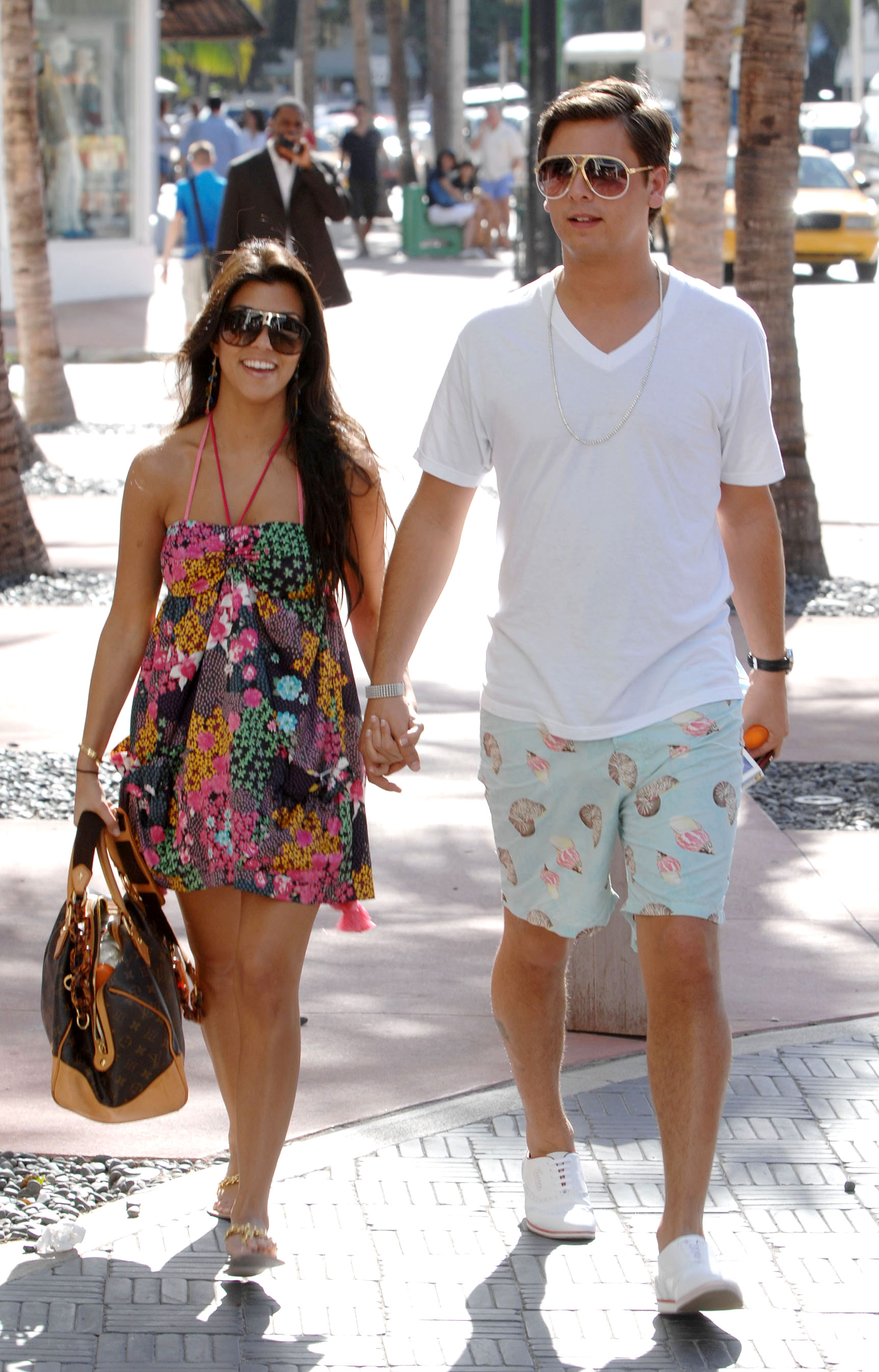 Kourtney Kardashian Through the Years - Kourtney and Disick were inseparable in 2007.