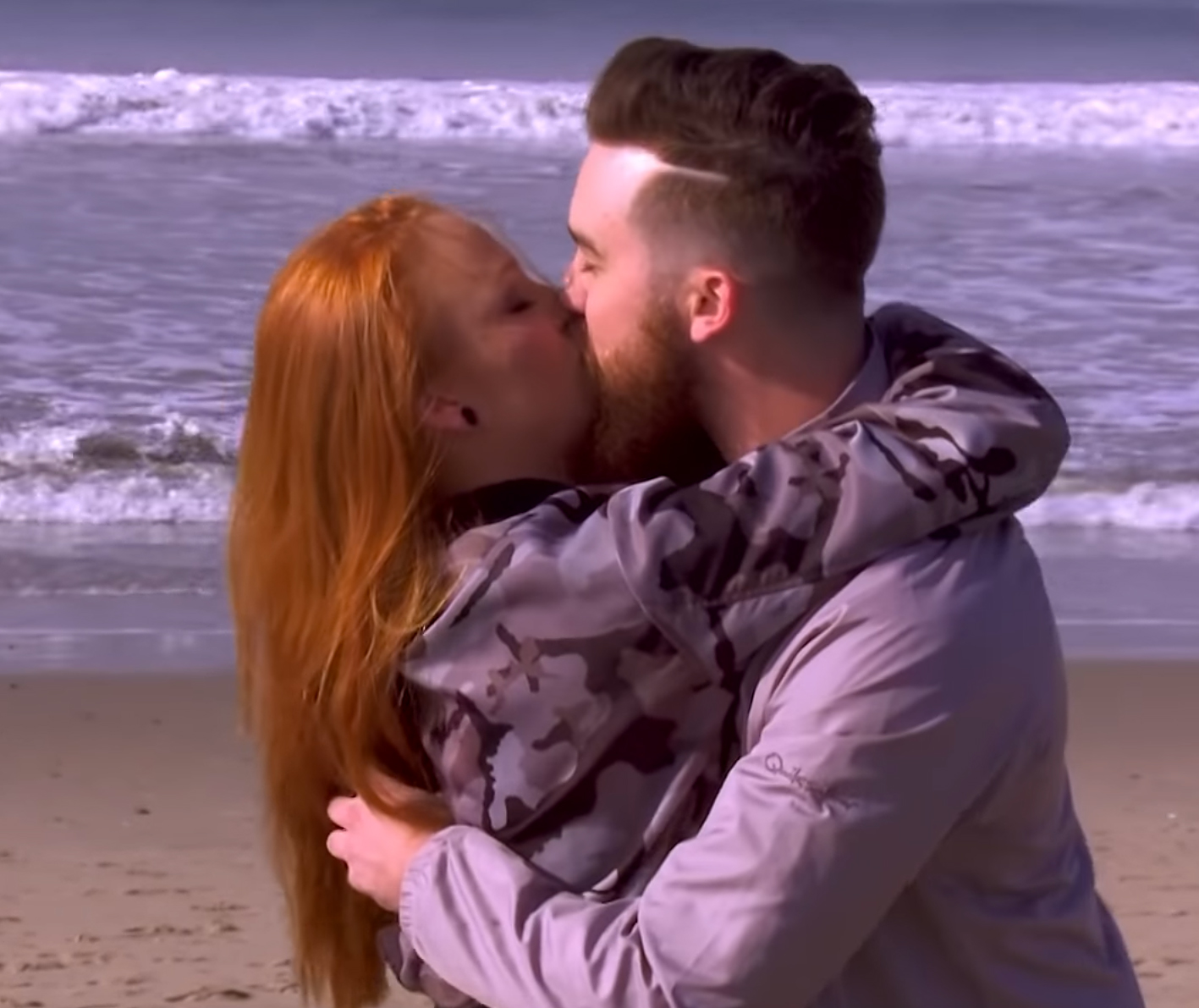 """6-Maci-Bookout-and-Taylor-McKinney-engaged - Taylor popped the question on the beach in Los Angles in January 2016. """"Well y'all, my best friend asked me to marry him! I'm one lucky lady, I love you T!"""""""