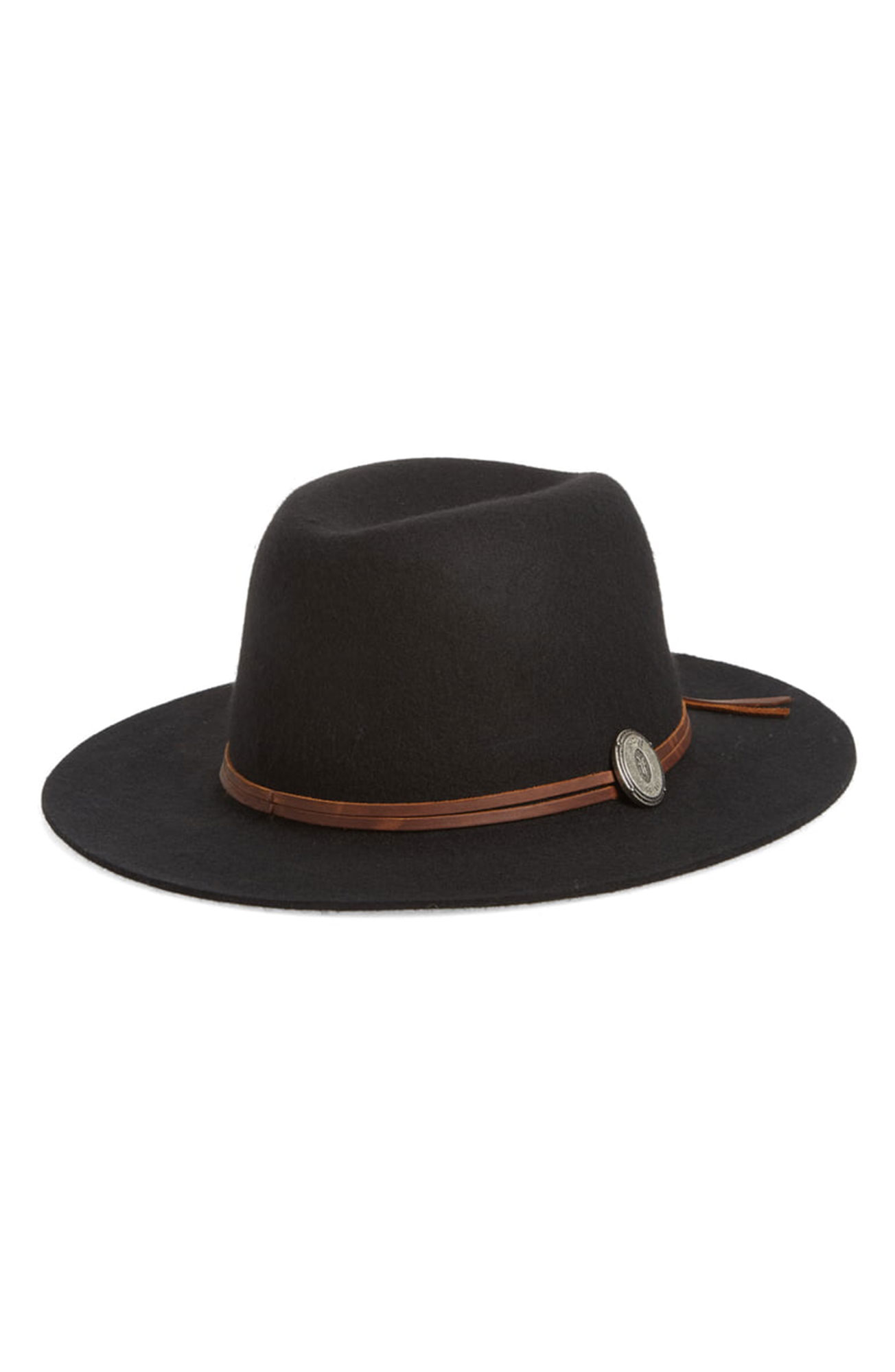 7 Black Panama Hats Inspired by Gigi Hadid¹s Œ90s Wedding Style - A logo medallion and double-wrap leather band are stylish additions to this wool- and felt-blend topper. $128, nordstrom.com