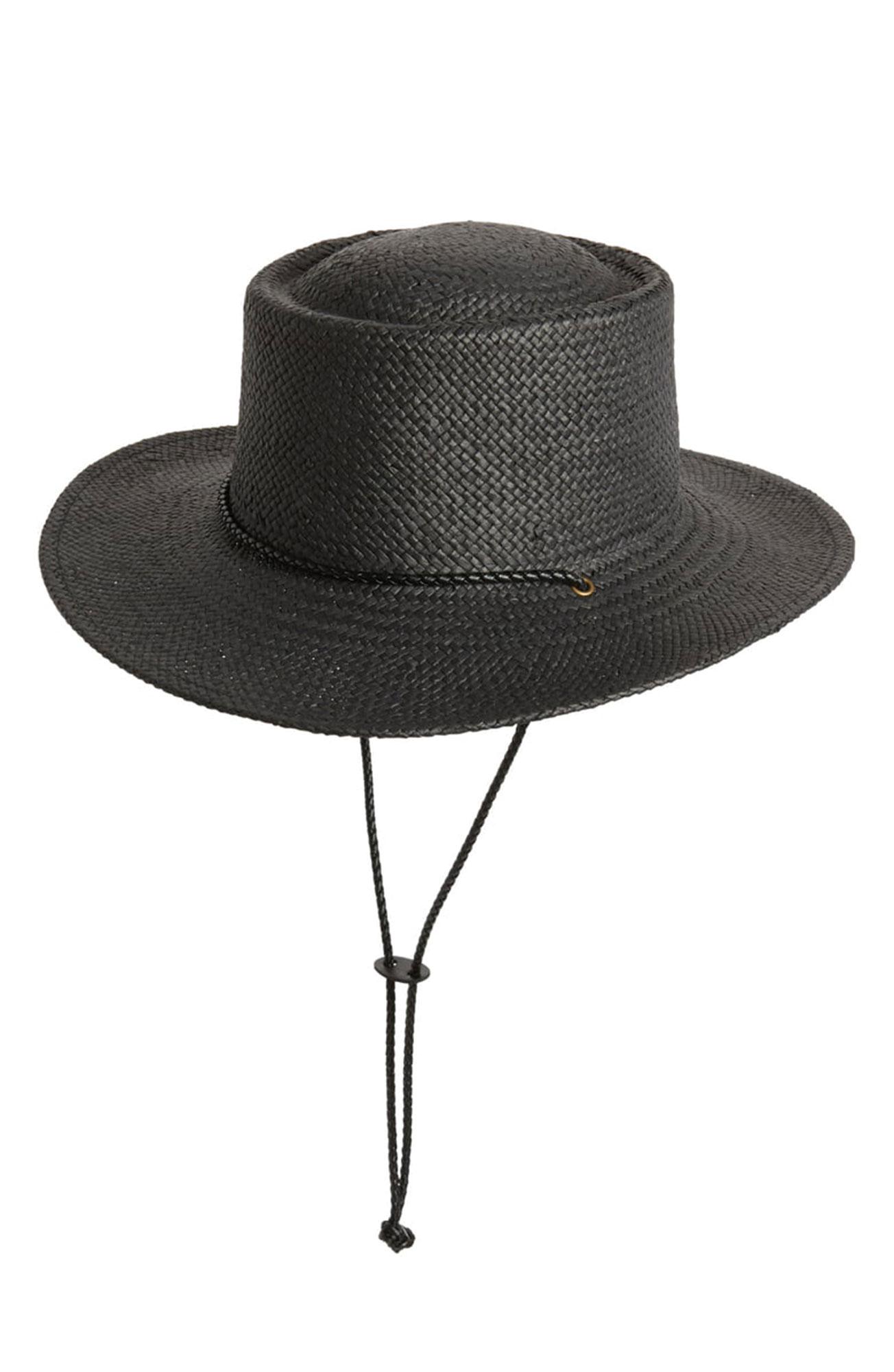 7 Black Panama Hats Inspired by Gigi Hadid¹s Œ90s Wedding Style - A braided drawstring cord adds a bit of country flair to this woven boater hat. $29, nordstrom.com