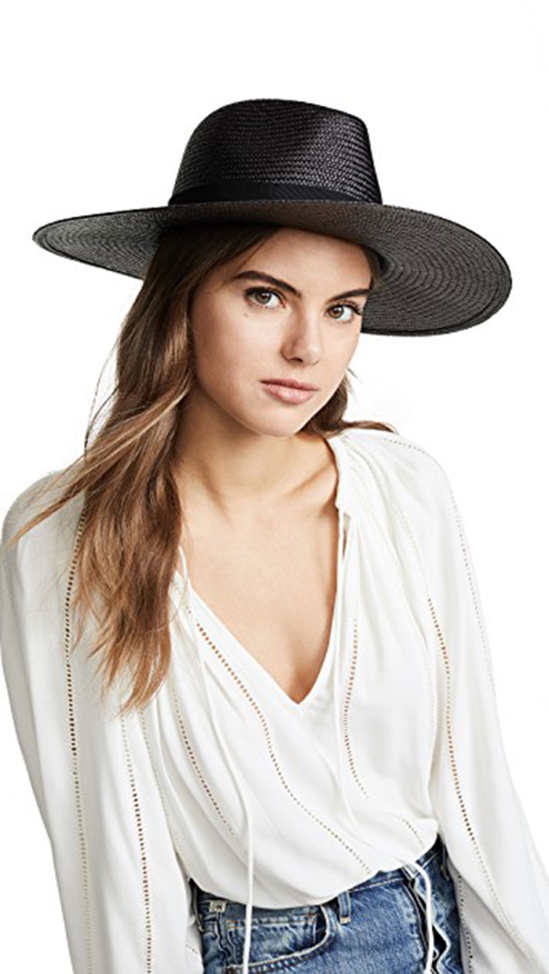 7 Black Panama Hats Inspired by Gigi Hadid¹s Œ90s Wedding Style - We love the subtle sheen of this grosgrain-accented design. $250, shopbop.com