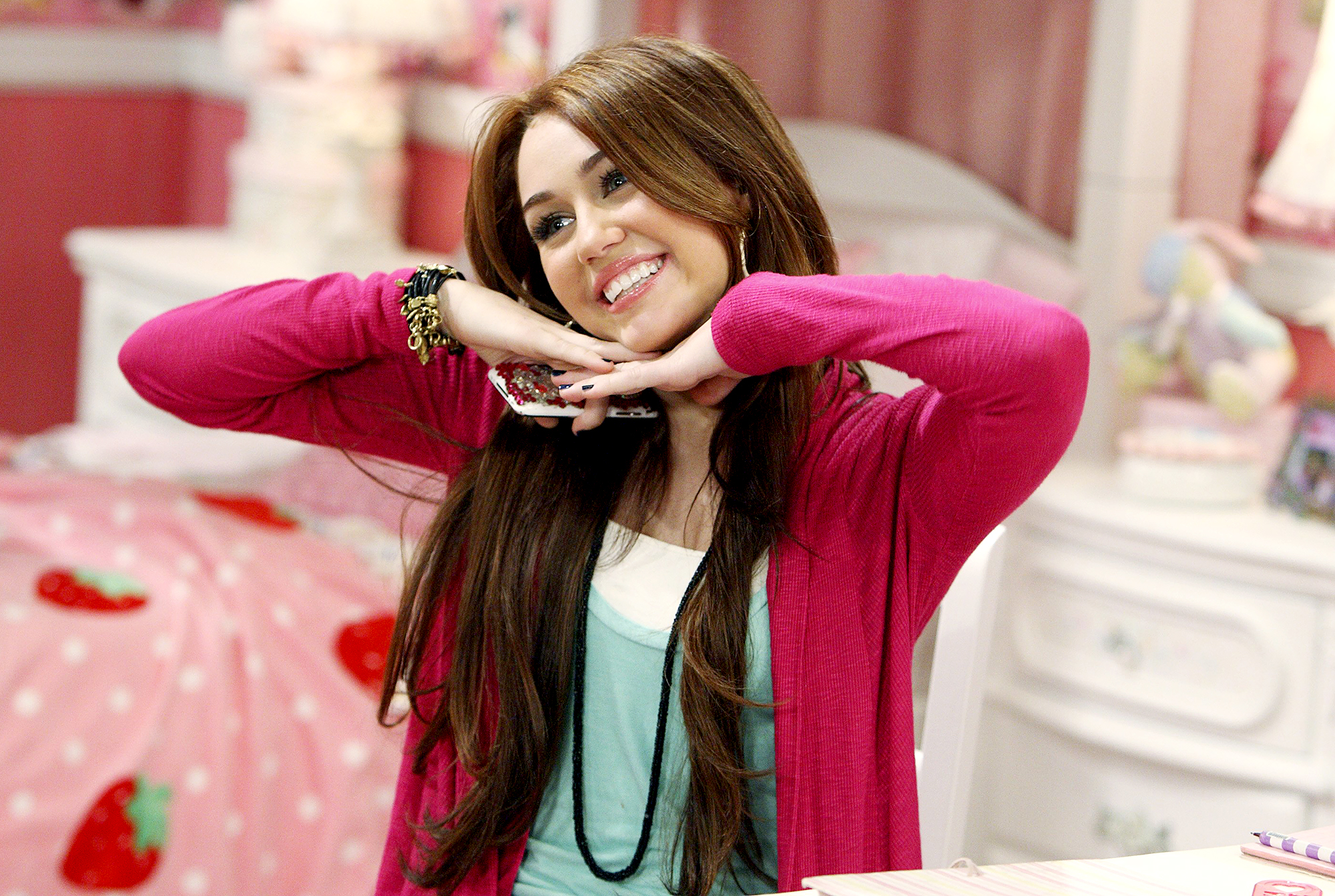 """miley-cyrus - In May 2017, while watching her audition tape for Hannah Montana — in which a pre-teen Cyrus sang Bailey Grey 's """"Beach Weekend,"""" which had the lyrics: """"Hope to cause a little commotion / Tryin out our brand new bikinis"""" — a more present-day Miley said to Radio Disney : """"[I was] always a little controversial, from the beginning."""""""