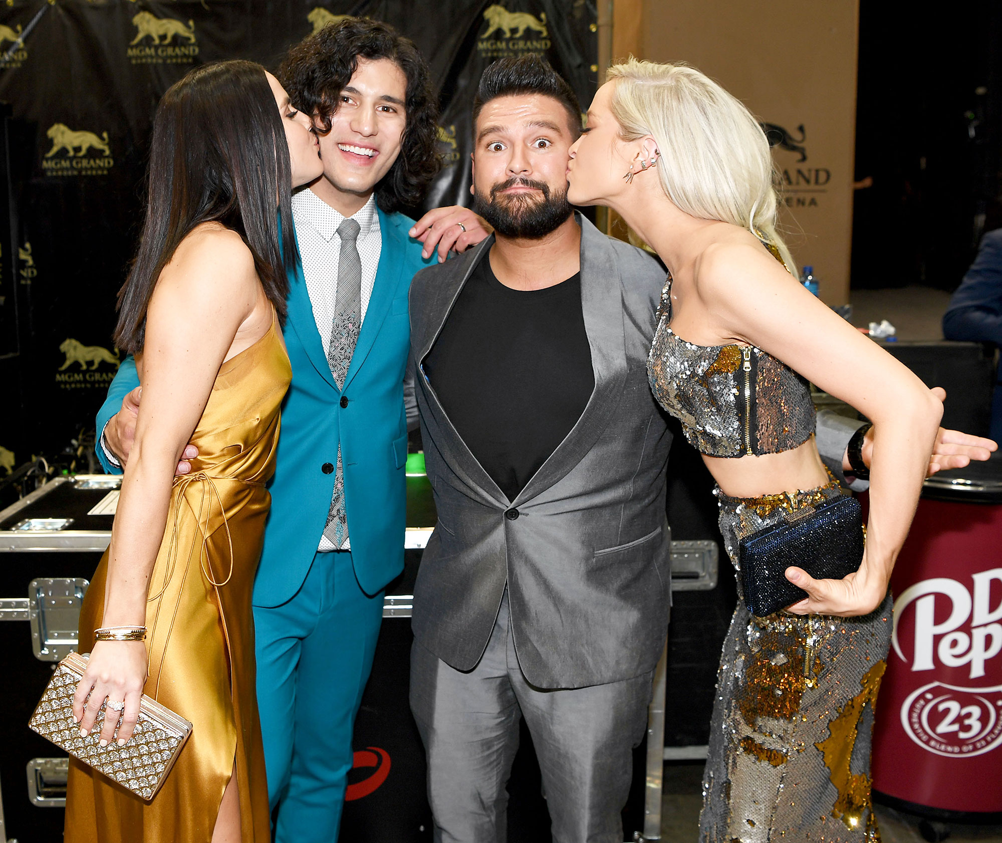 Inside ACM Awards 2019 Abby Law Dan Smyers Shay Mooney Hannah Billingsley - Dan + Shay stars Dan Smyers and Shay Moone y received smooches from their respective wives, Abby Law and Hannah Billingsley .