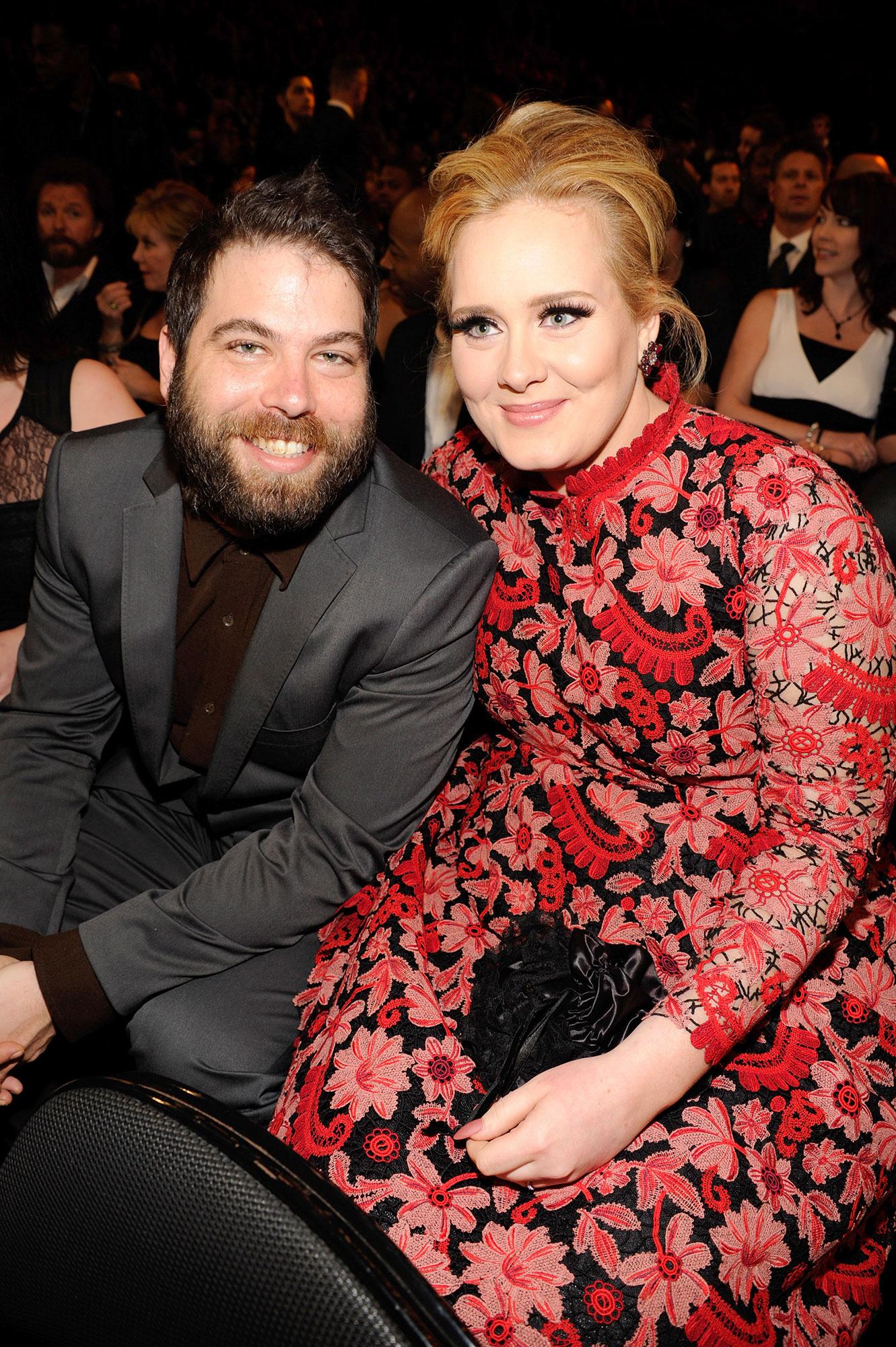 Adele and Simon Konecki - Simon Konecki and Adele attend the 55th Grammy Awards at Staples Center in Los Angeles on February 10, 2013.