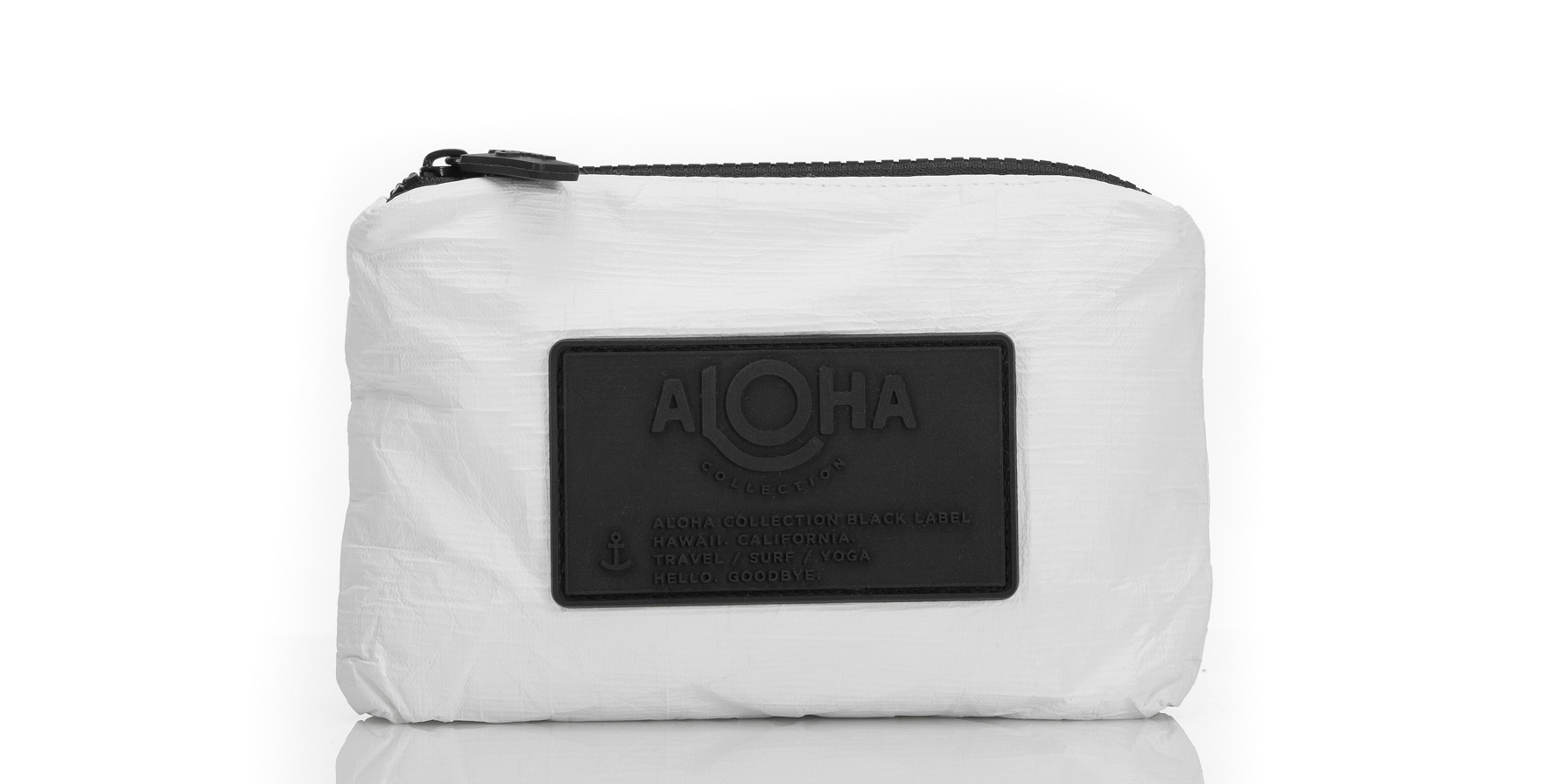 Aloha-Collection-Mini-White-Pouch - For moms who are always on the go, this Aloha pouch can hold all of her essentials. $22, aloha-collection.com