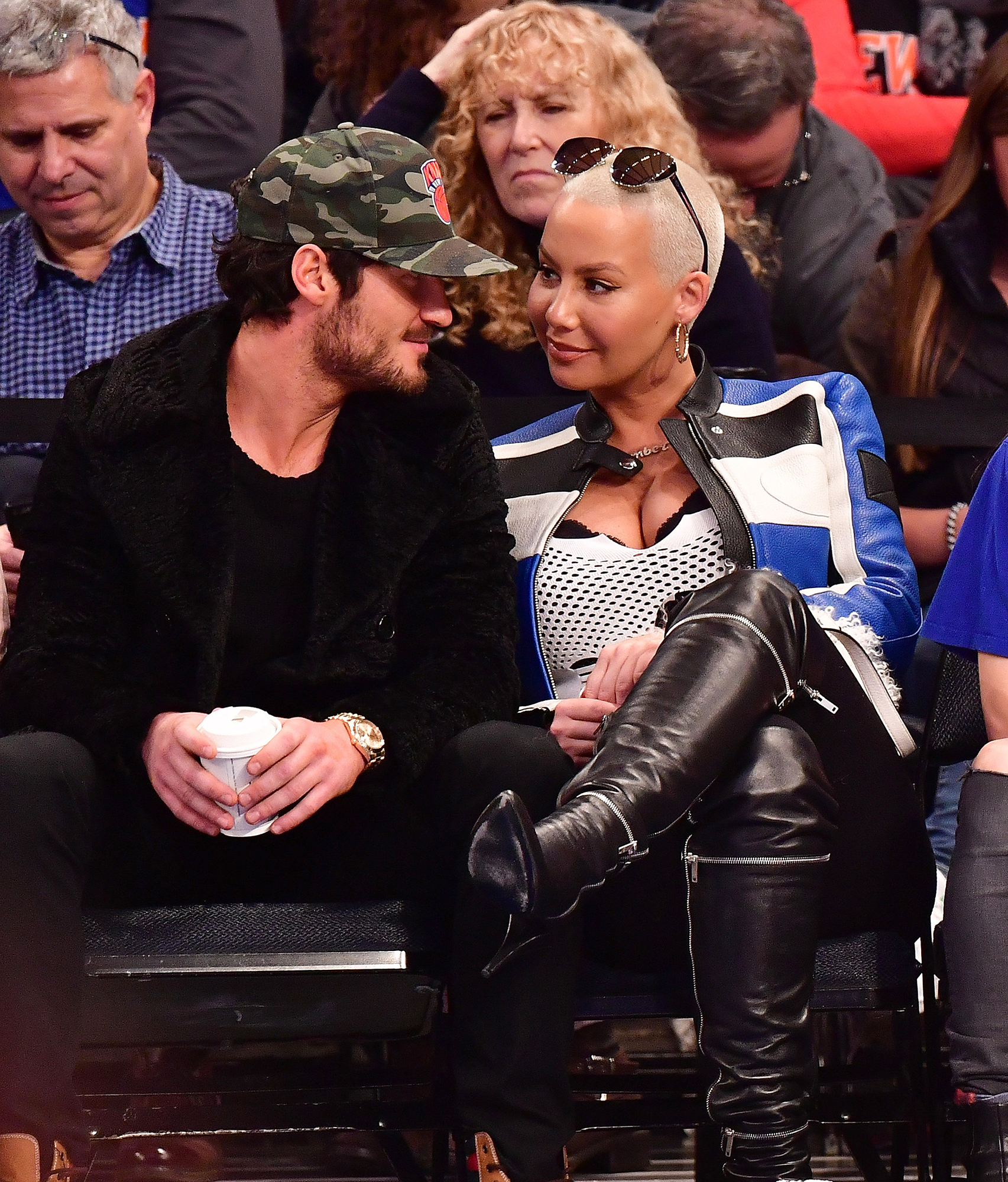 "Amber Rose and Val Chmerkovskiy Basketball game 2016 - Johnson and Chmerkovskiy called it quits in 2016 and he started dating Dancing With the Stars season 23 contestant Amber Rose that December. The model publicly declared her ""love"" for the dancer in January 2017, and a source later told Us that they were "" definitely serious "" about each other."