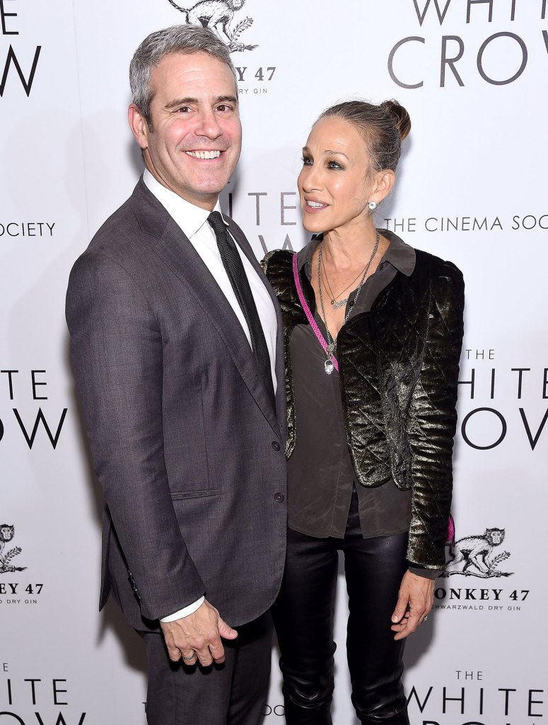 Andy Cohen and Sarah Jesica Parker