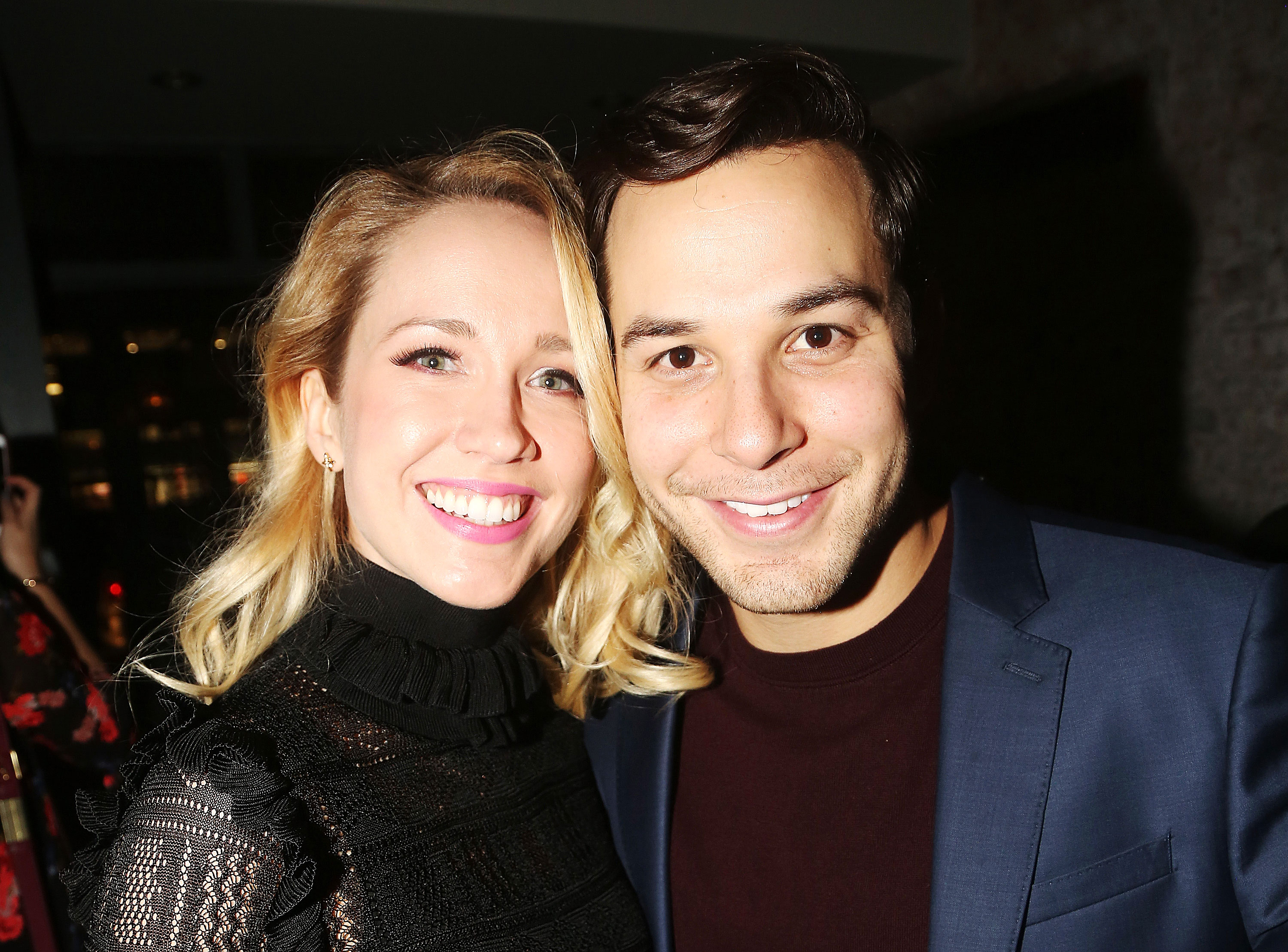 Anna Camp and Skylar Astin List Home Amid Split - Anna Camp and Skylar Astin pose at the opening night afterparty for 'What We're Up Against' in New York City on November 8, 2017.