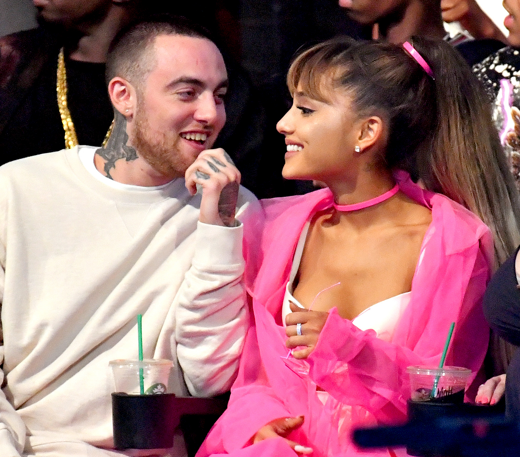 Ariana-Grande-tribute-to-Mac-Miller-Coachella - Mac Miller and Ariana Grande attend the 2016 MTV Video Music Awards at Madison Square Garden on August 28, 2016 in New York City.