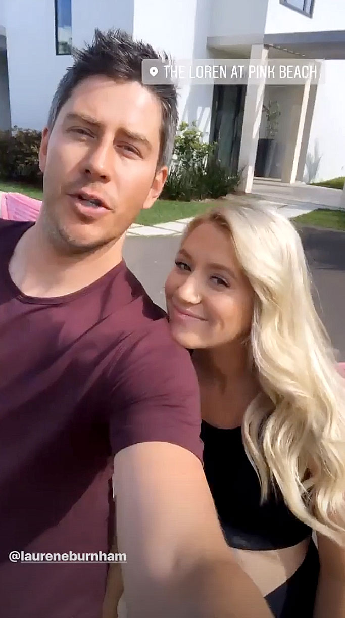 Arie Luyendyk Jr. and Lauren Burnham Babymoon - The Bachelorette alum showed off the duo's beautiful villa at The Loren at Pink Beach via his Instagram Story on Thursday, April 18.