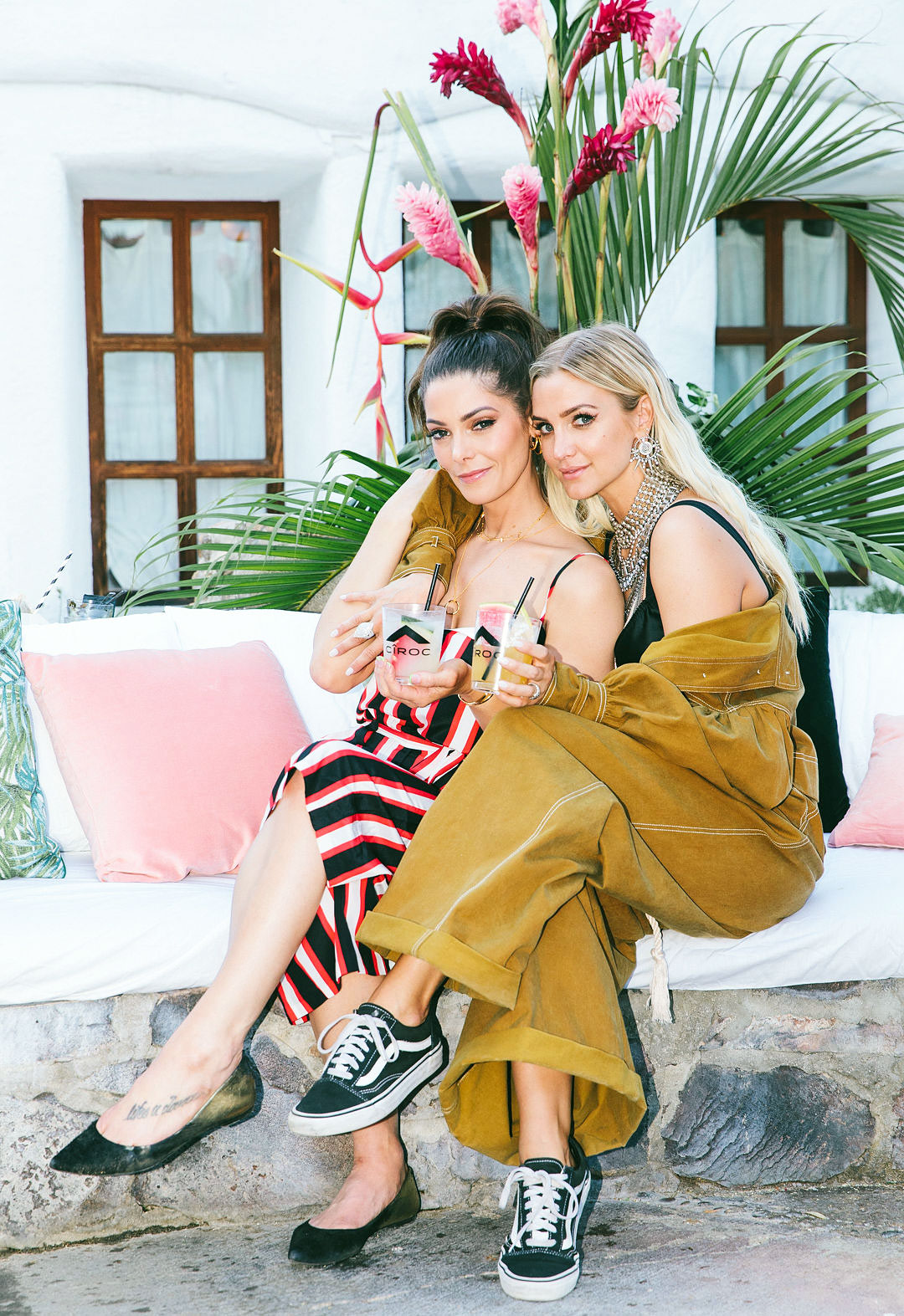 Ashley Green Ashlee Simpson CIROC Summer House - Ashley Green and Ashlee Simpson kicked off Coachella with CÎROC Limited-Edition Summer Watermelon at the CÎROC Summer House at Korakia Pensione on Friday, April 12.