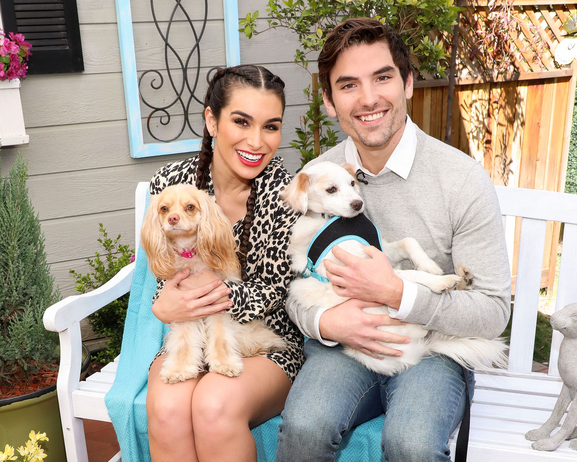 "Ashley Iaconetti and Jared Haibon Wedding Gallery and Dogs - The Bachelor Winter Games alum told Us in April 2019 that the pair ""are still deciding on whether or not [their dogs] will actually walk down the aisle."" ""Hopefully, my parents' dog and Jared's dog are going to get married during the rehearsal dinner,"" she added. ""No joke, Ethel and Clark are going to get married."""
