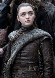 Maisie Williams as Arya Stark game of thrones got hair